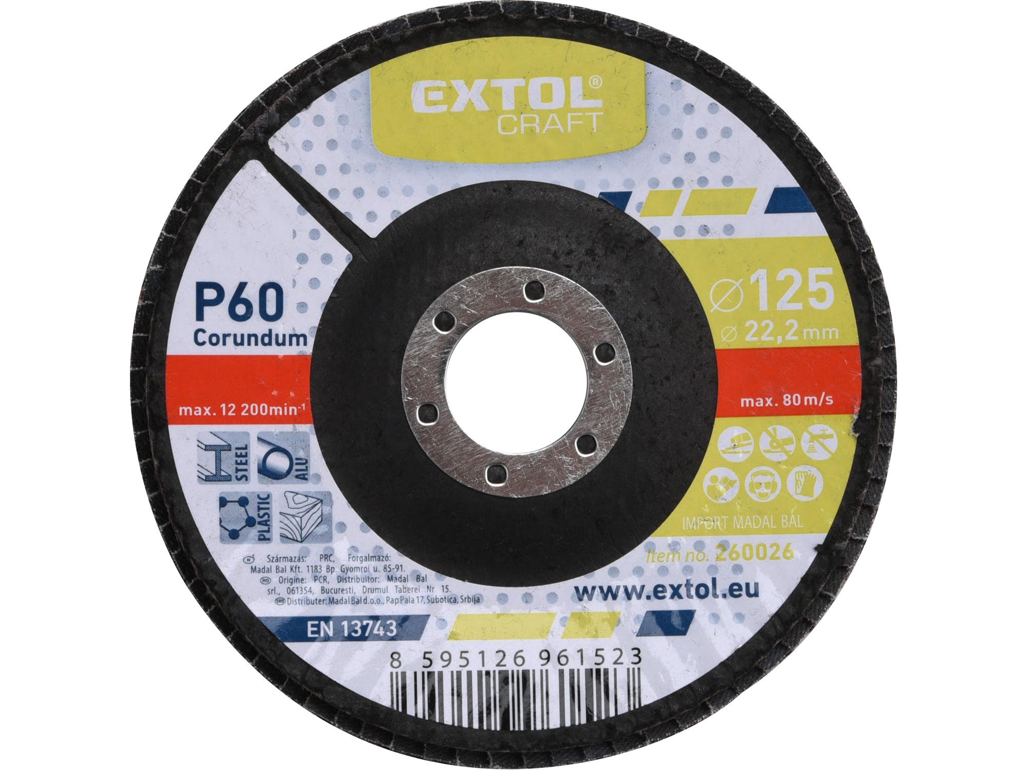 Flap Disc, 125mm Dia, P60