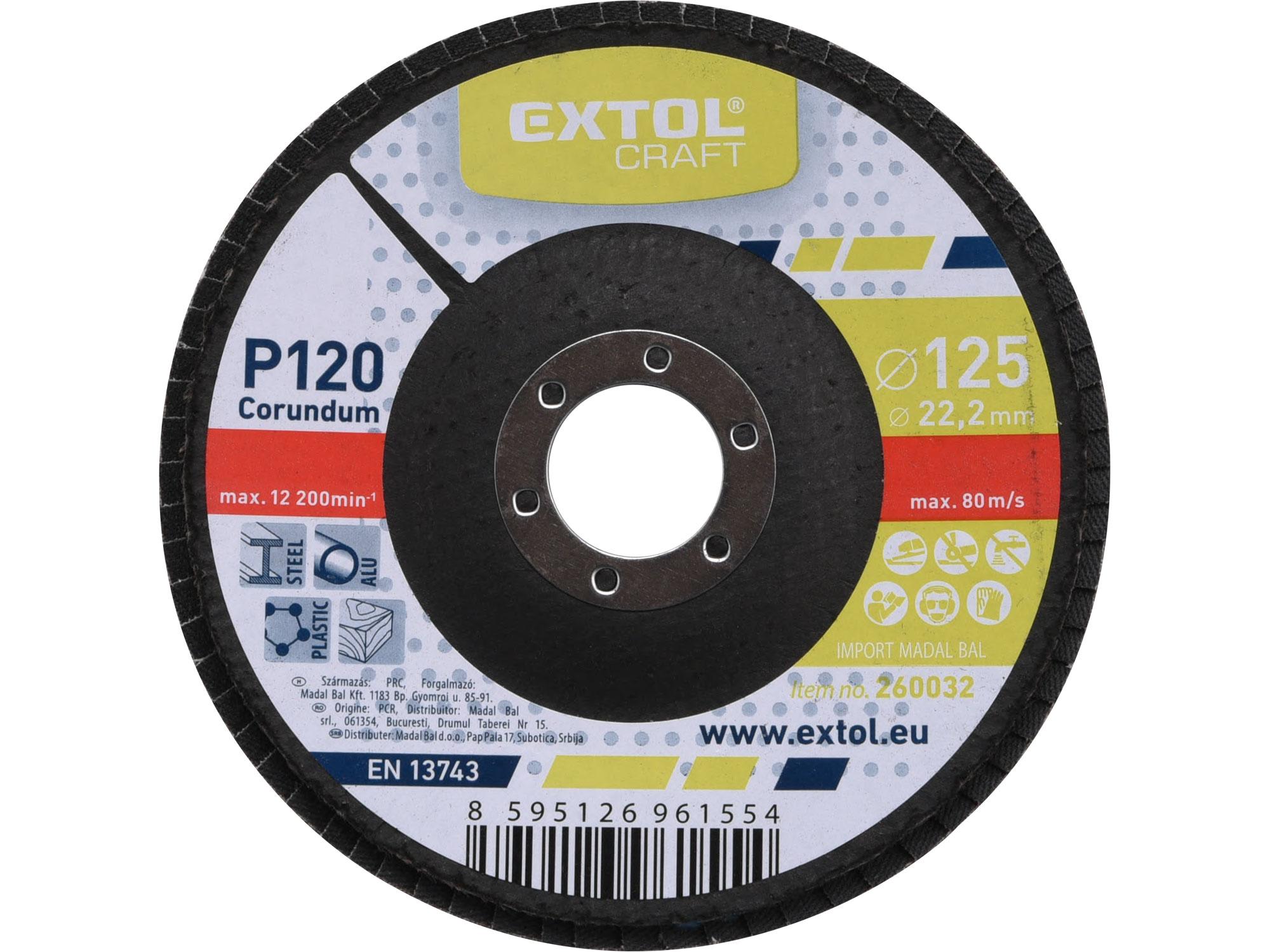 Flap Disc, 125mm Dia, P120