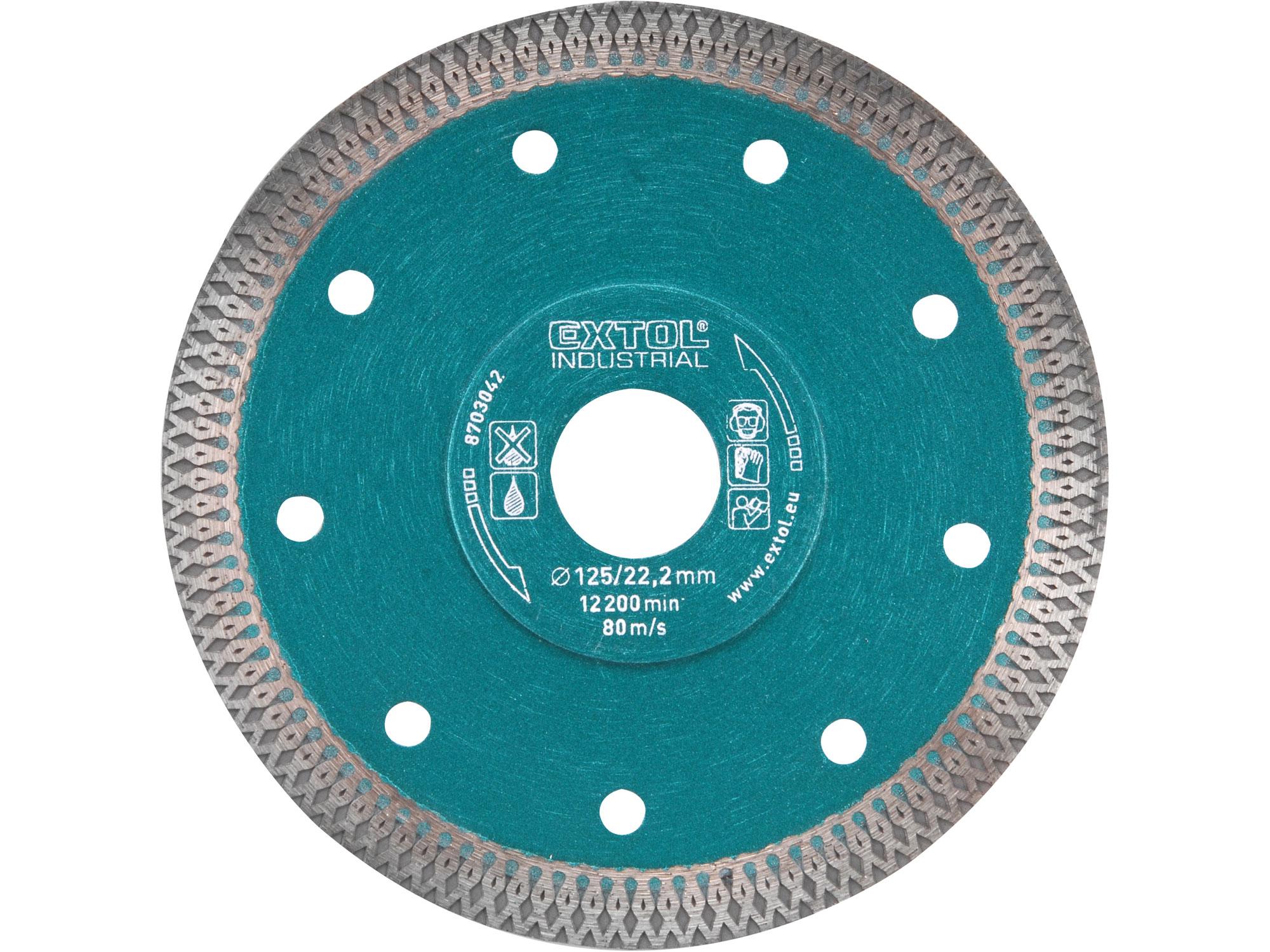 125mm Diamond Cutting Disc, Thin Wet & Dry Cut, 125mm Dia, 22.2mm ID x 1.5mm thk