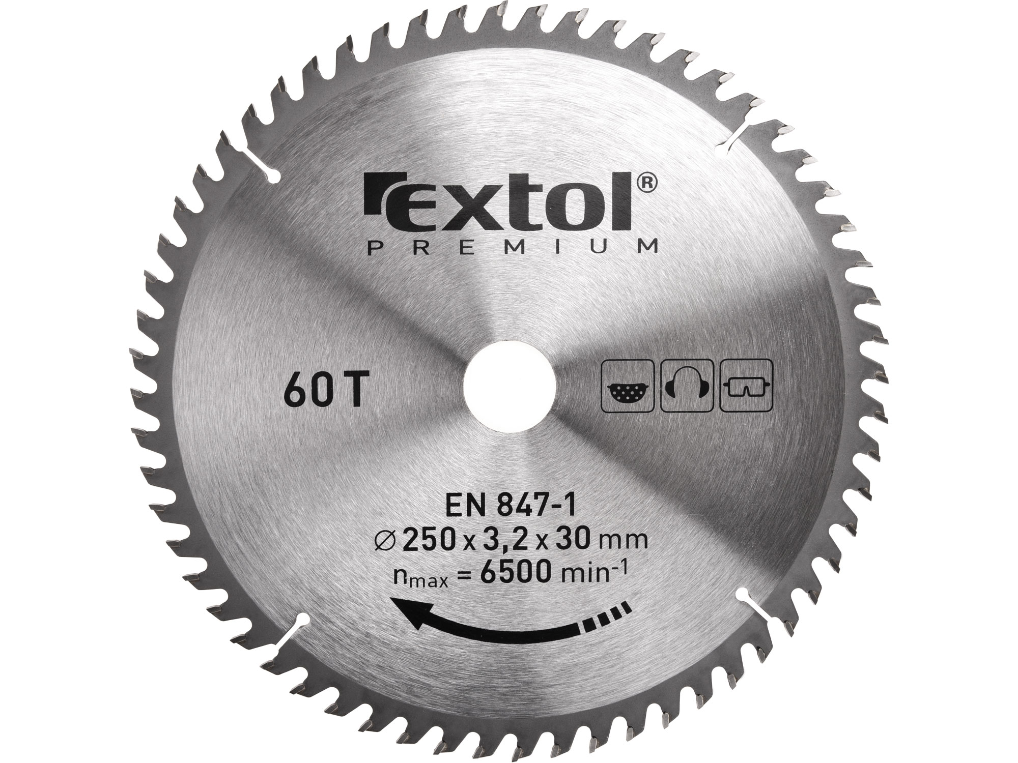 250mm TCT Circular Saw Blade, 250mm Dia. 30mm ID, 60t