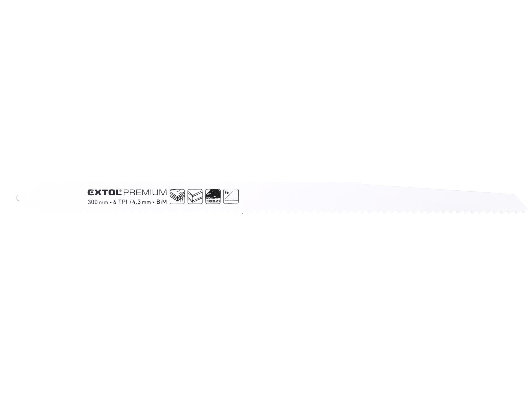 3pcs Sabre/Reciprocating Saw Blade Set, 6T/inch, 300x19x1.25mm, Bi-metal