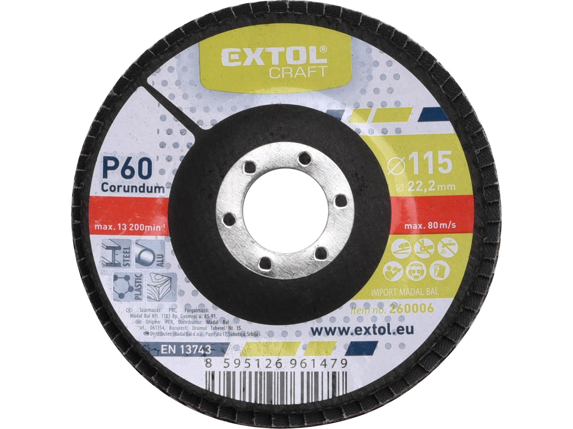 Flap Disc, 115mm Dia, P60