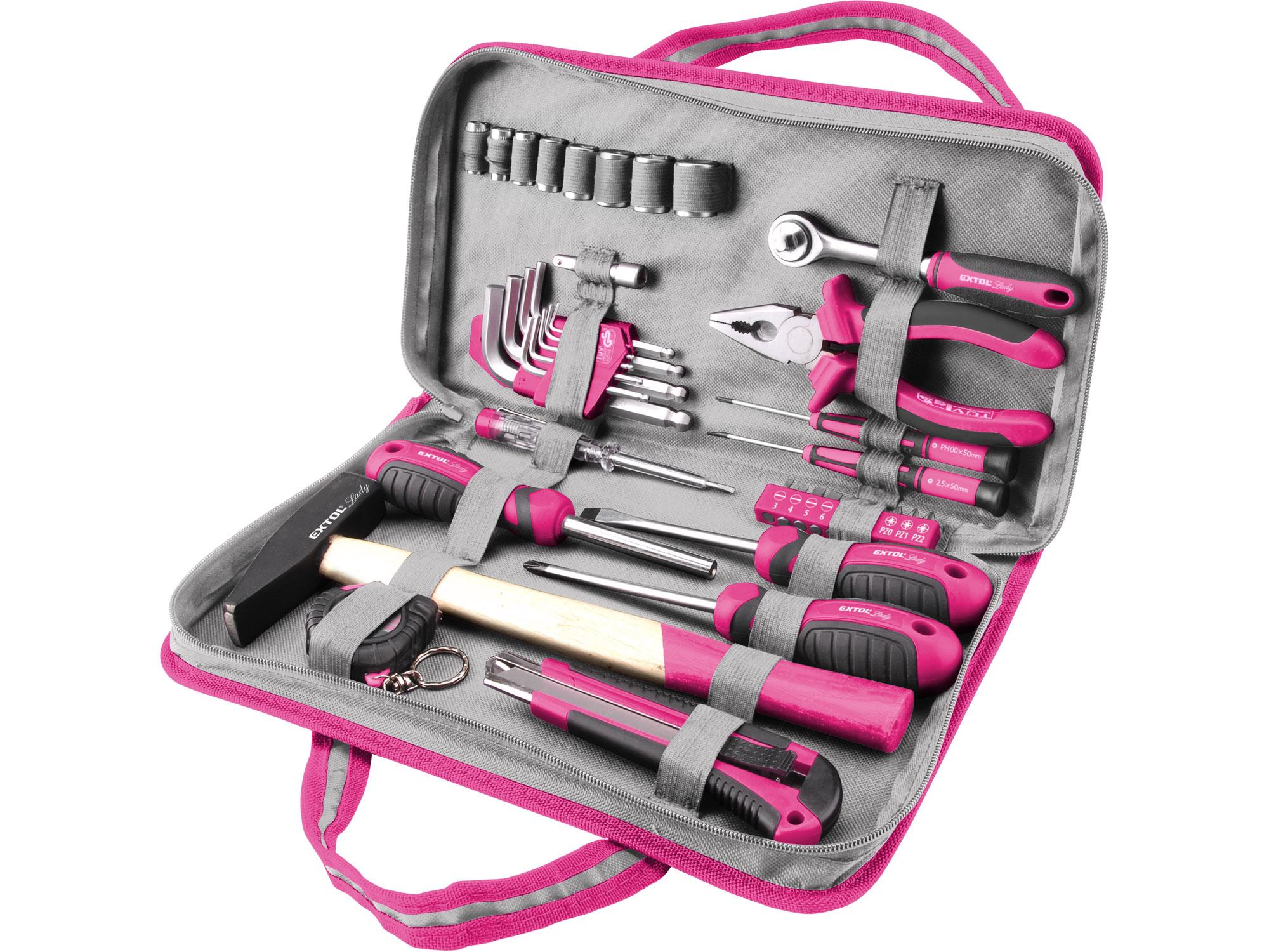 39pcs Tools Set , Pink Colour
