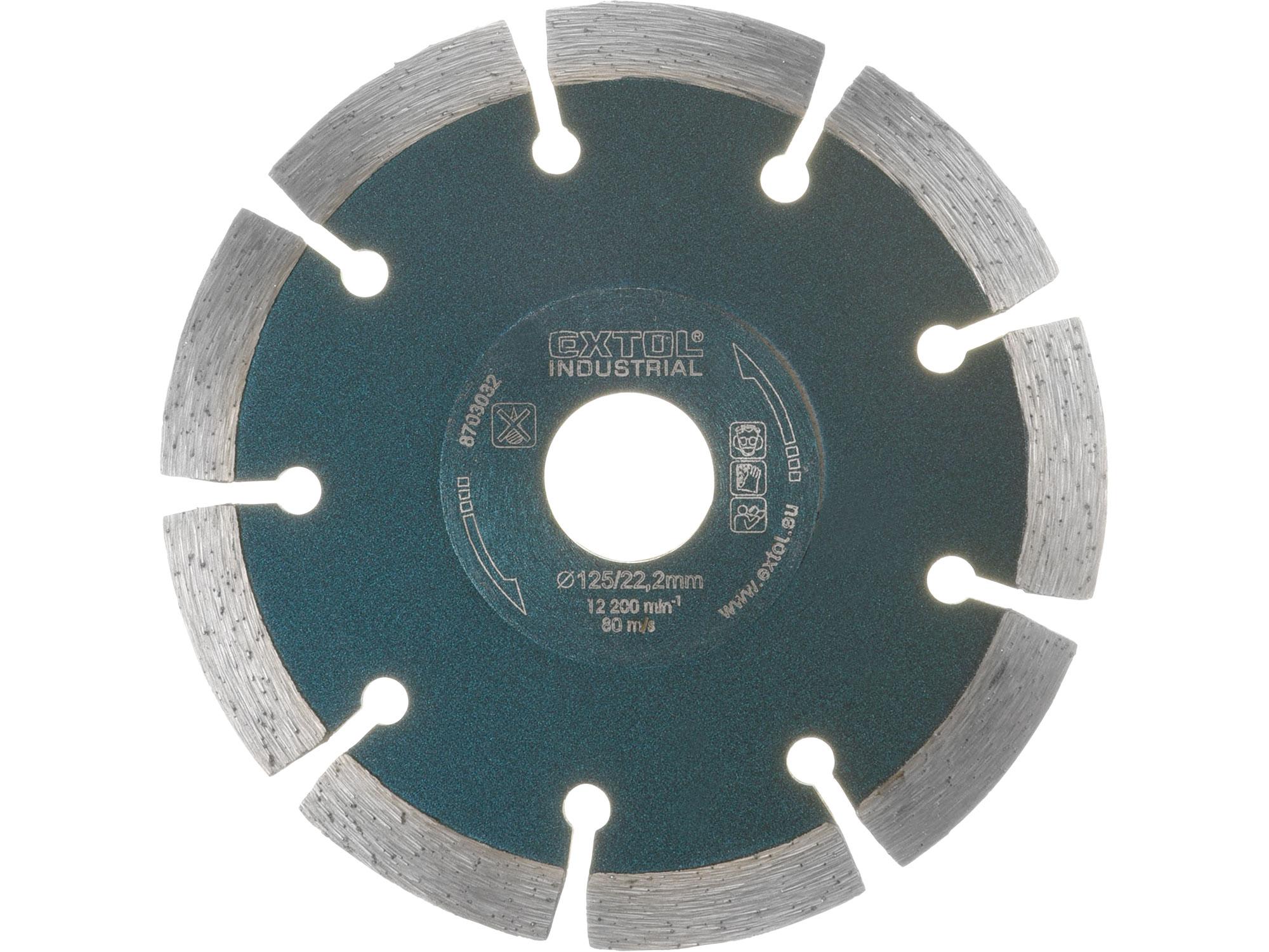 125mm Diamond Cutting Blade Segmental Grab Cut, 125mm OD, 22.5mm ID, 2mm thk