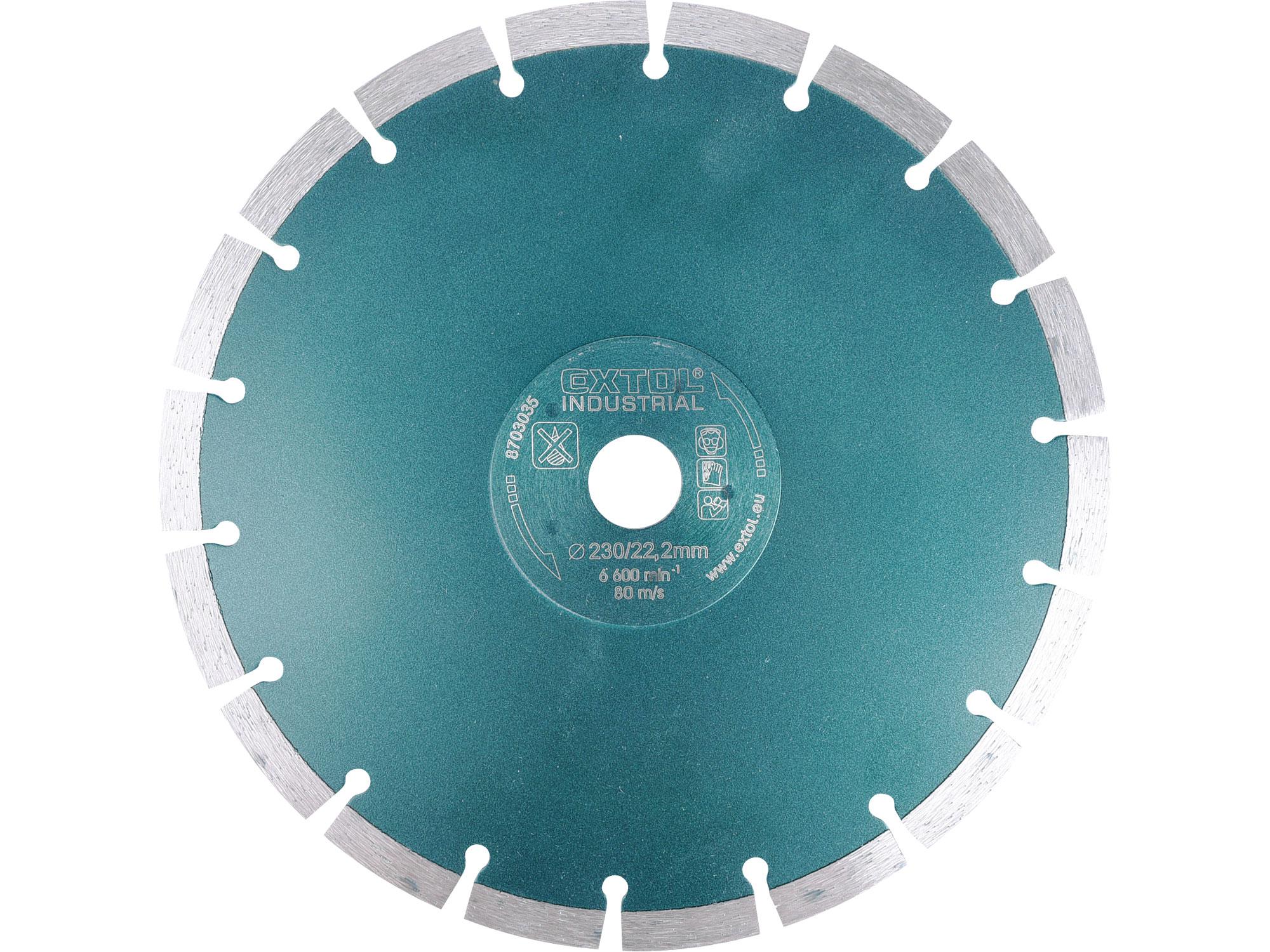 230mm Diamond Cutting Blade Segmental Grab Cut, 230mm OD, 22.2mm ID, 8mm thk