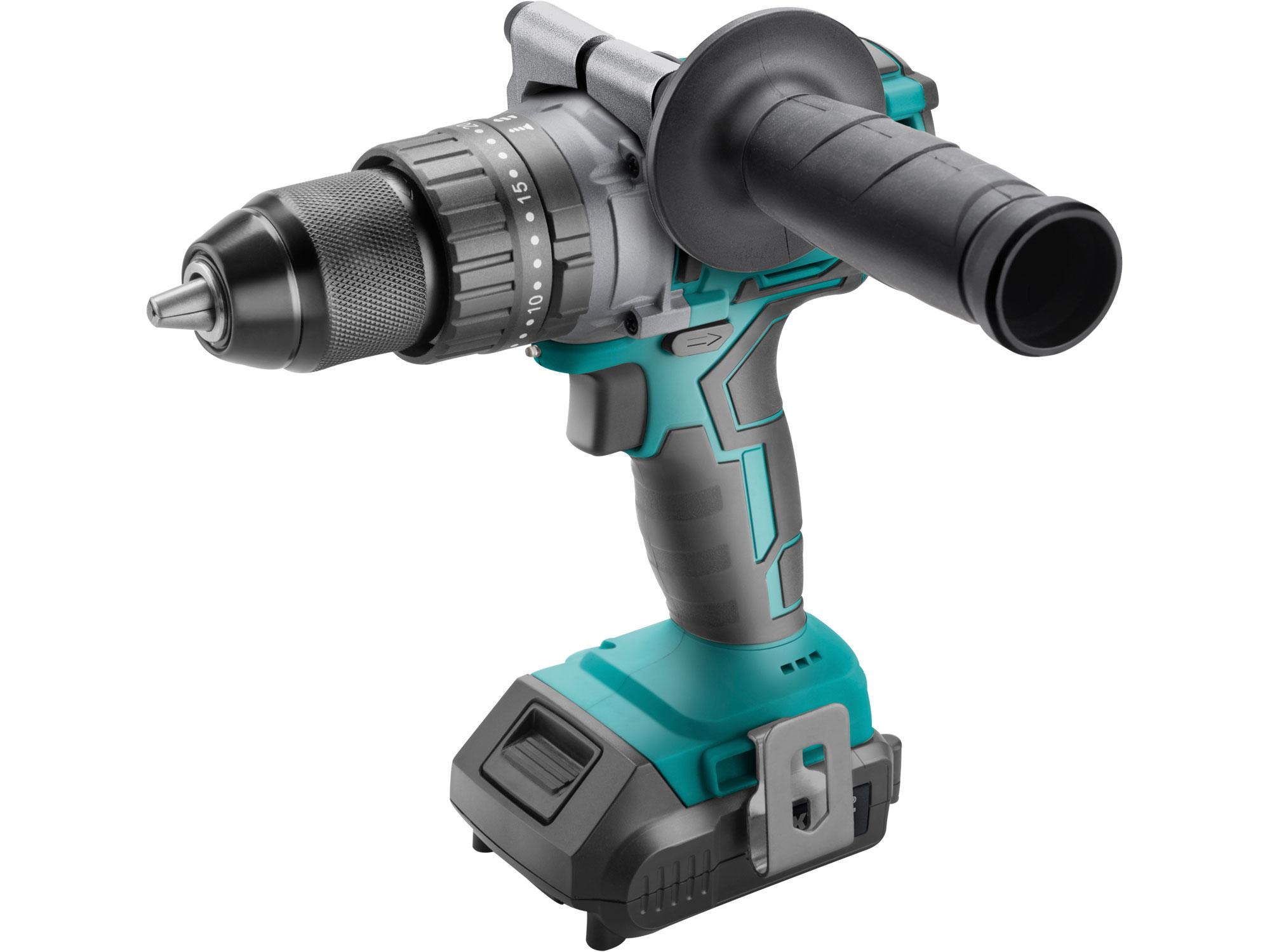 Cordless Hammer Drill with Brushless Motor 20V, 1x2000mAh