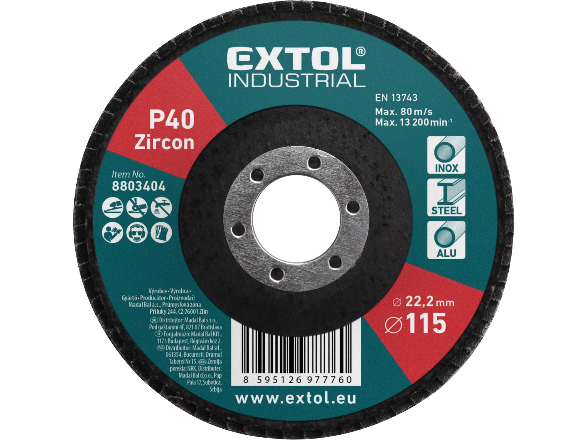 abrasive flap disc, inclined ,115mm P40, zirconium