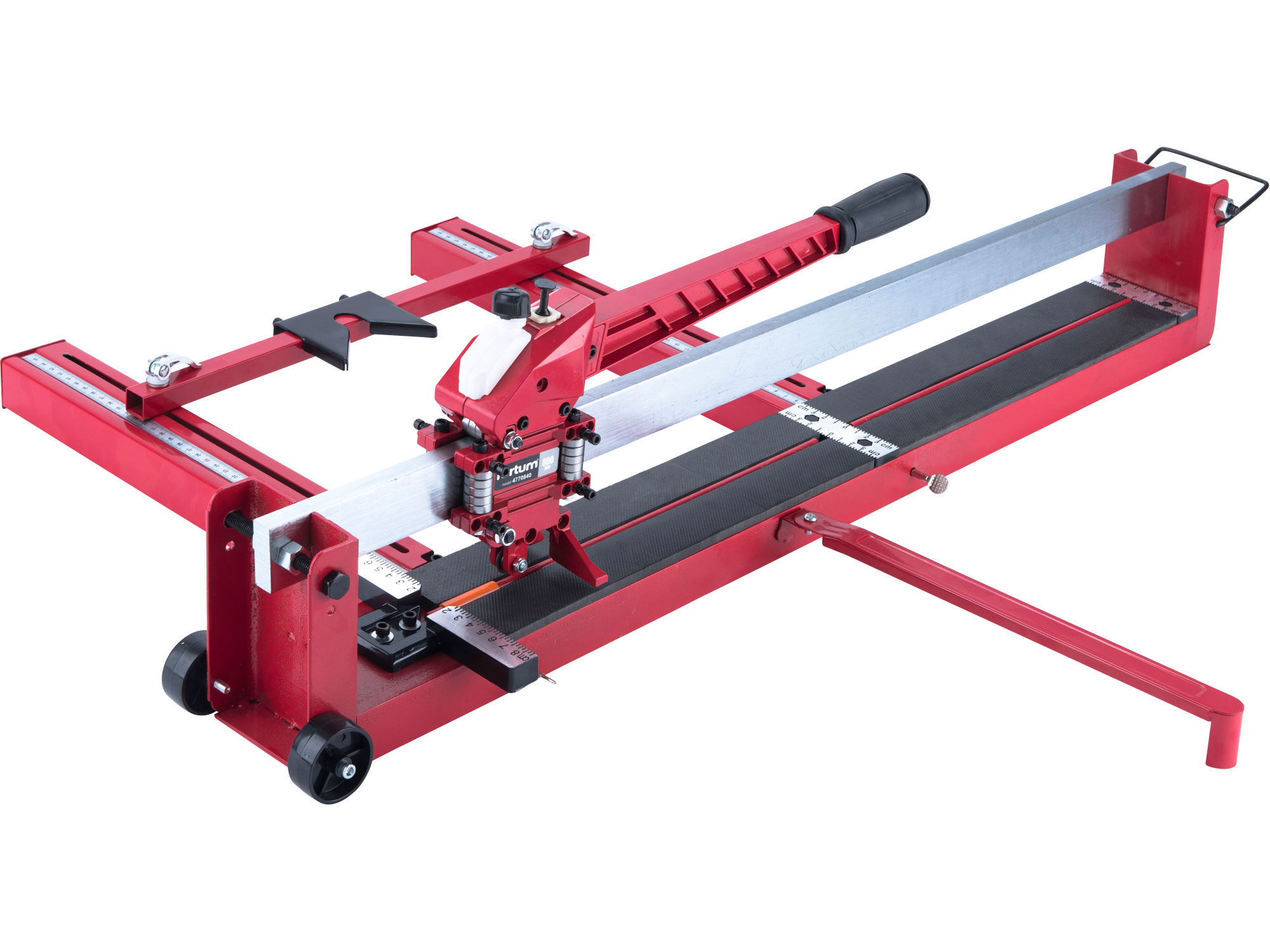 tile cutter 800mm (without laser) steel base-plate with side ruler, oil pump-tank and nylon wheels