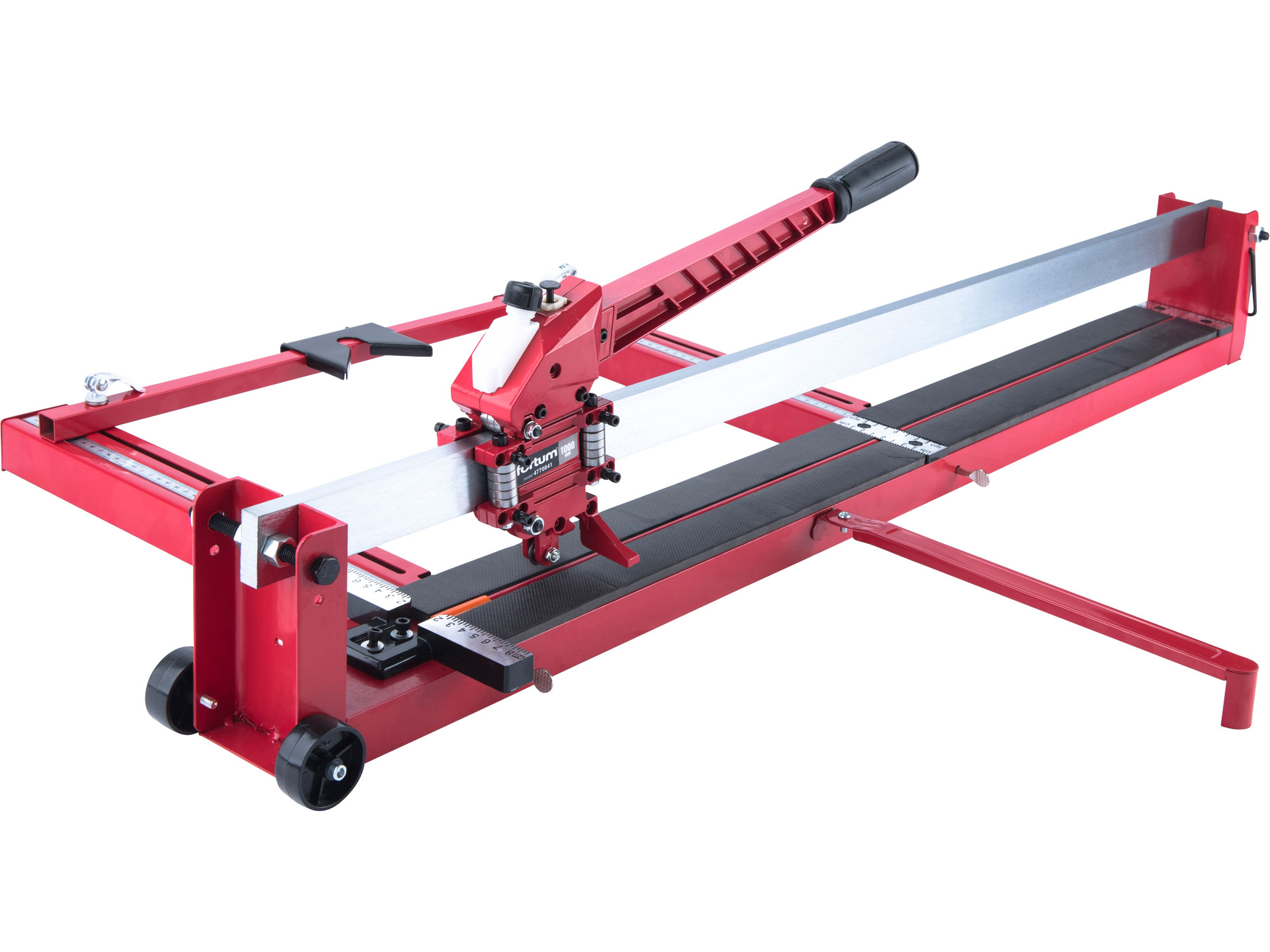 tile cutter 1000mm (without laser) steel base-plate with side ruler, oil pump-tank and nylon wheels