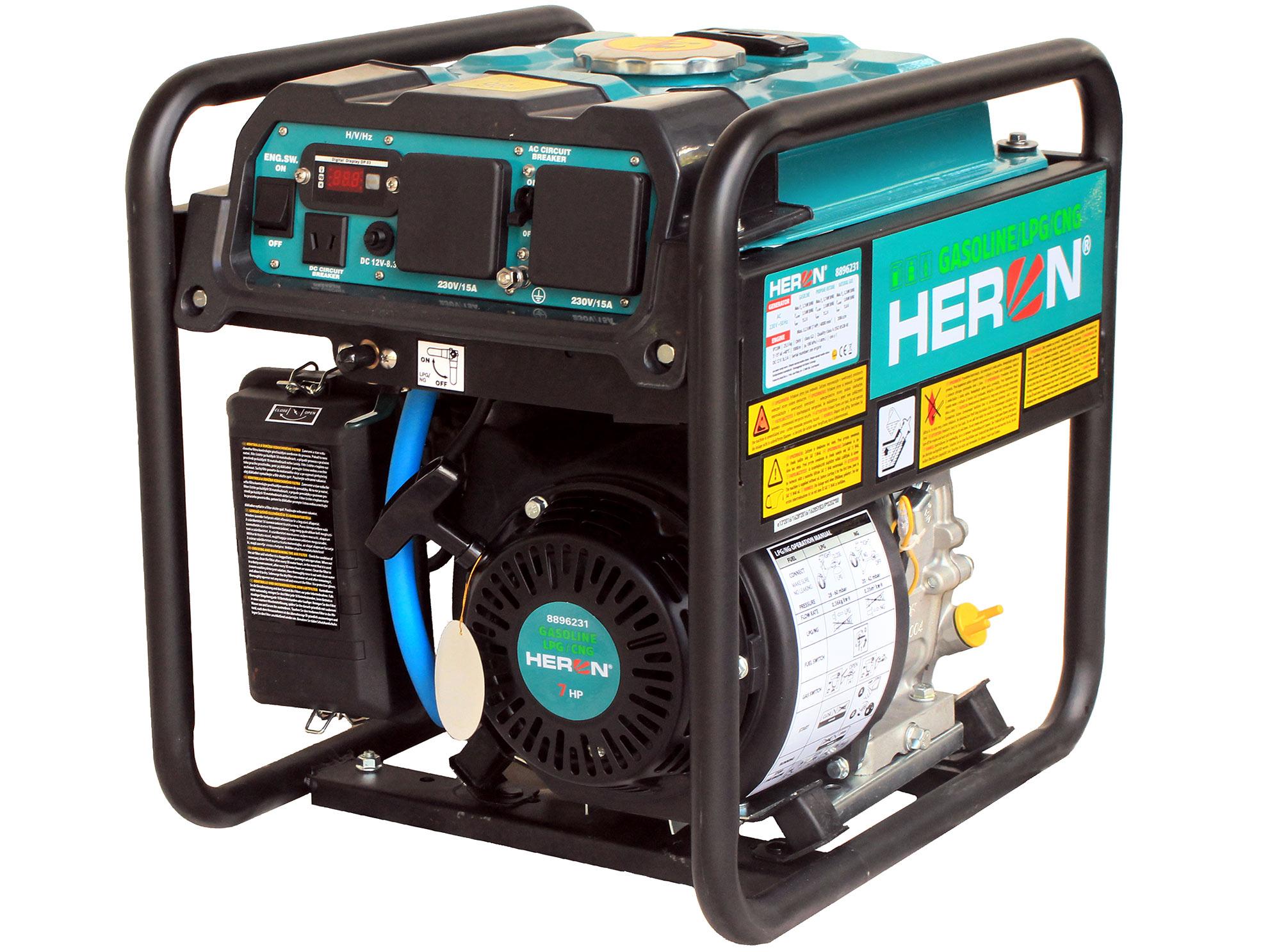 Digital generator 7HP, Petrol-LPG-NG