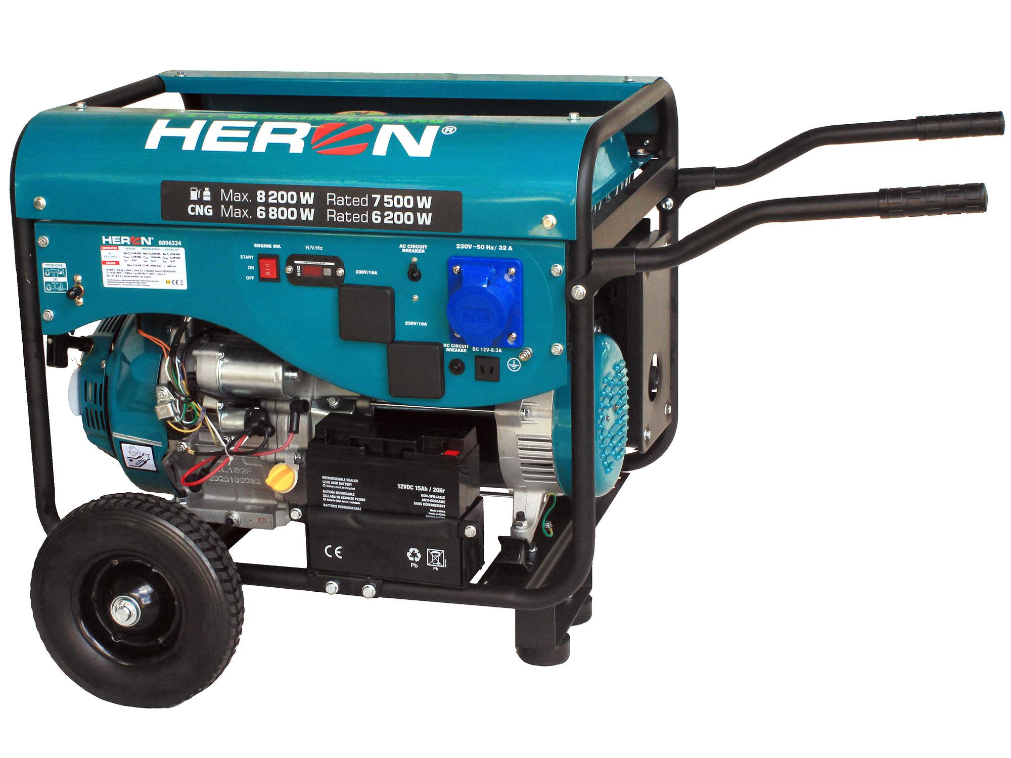 17hp, 8.2kW Petrol-LPG-CNG Generator