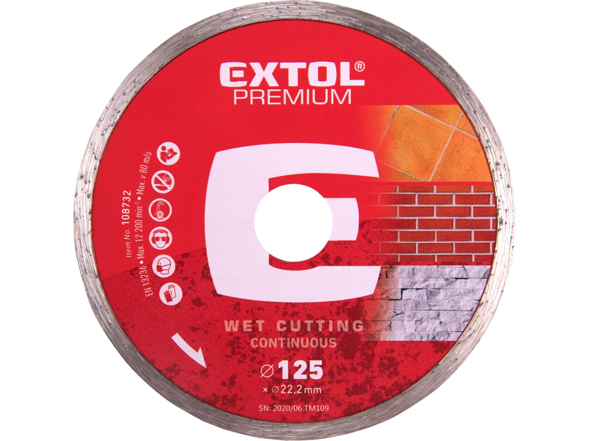 125mm Diamond Cutting Disc Wet Type, 125mm Dia. 22.2mm ID, 2mm thk