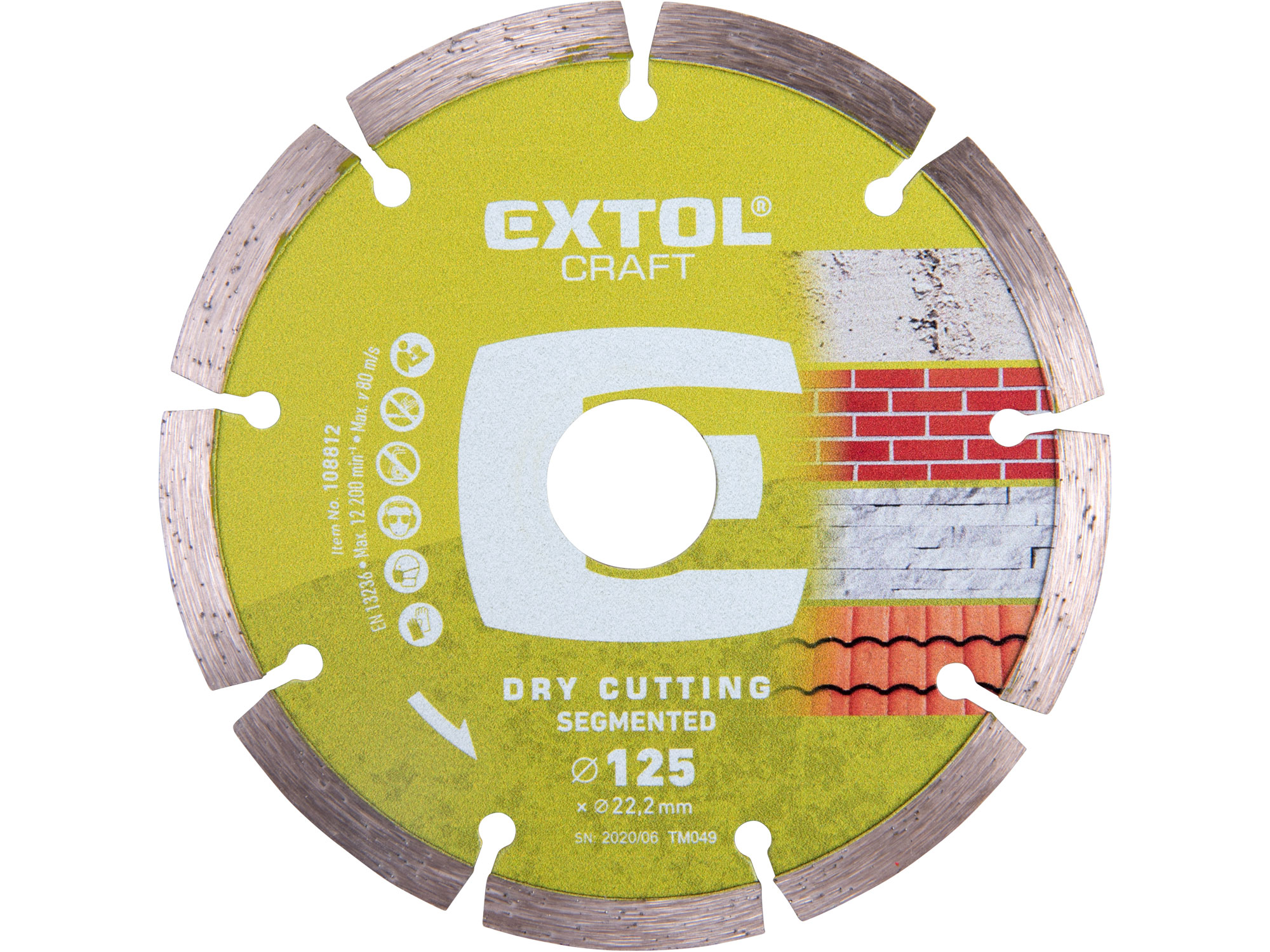 125mm Diamond Cutting Disc, Dry Type, 125mm Dia. 22.2mm ID, 2mm thk