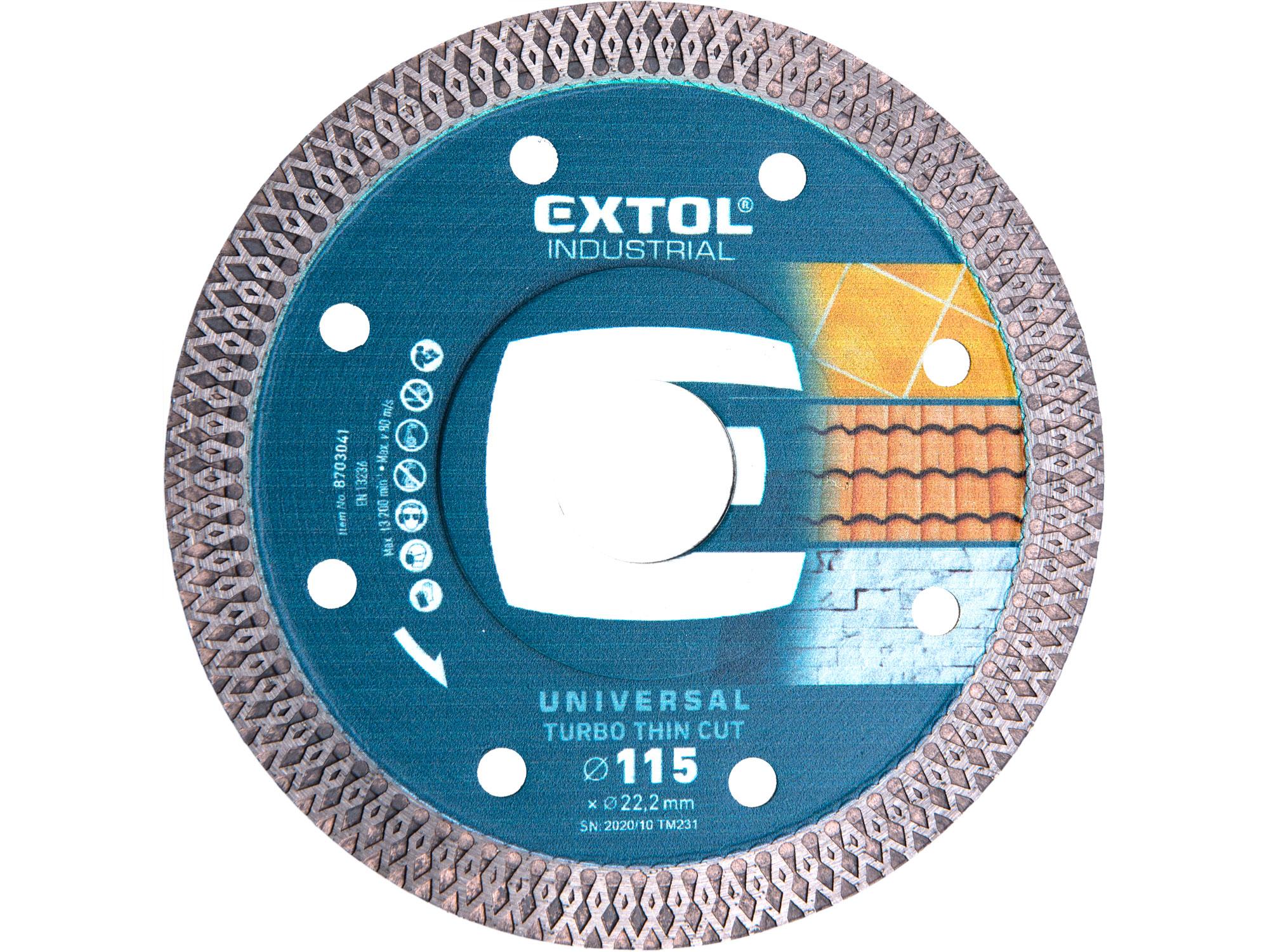 115mm Diamond Cutting Disc, Thin Wet&Dry Cut, 115mm Dia,22.2mm ID, 1.5mm thk