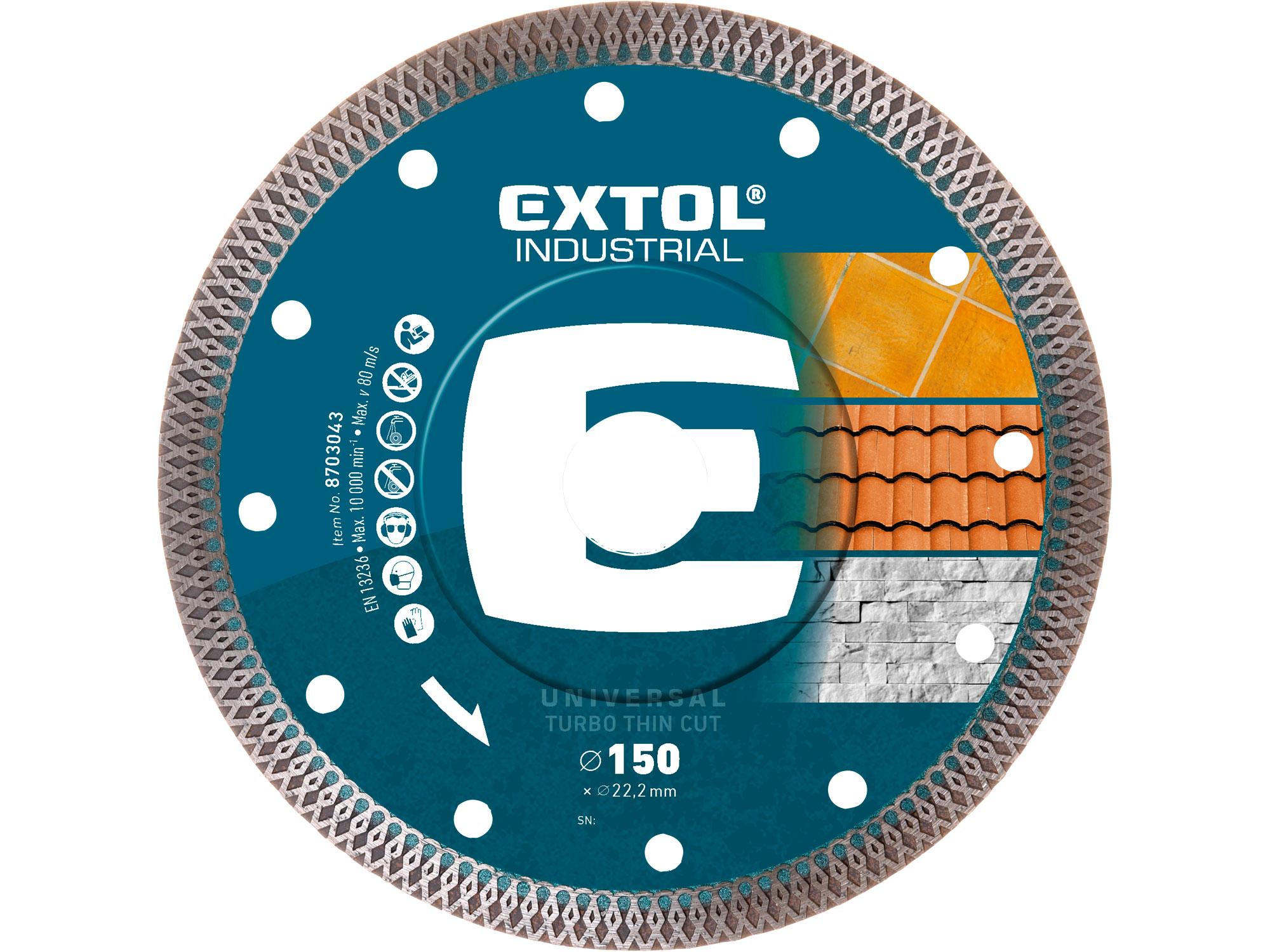 150mm Diamond Cutting Disc,Turbo Thin Wet&Dry Cut, 150mm OD, 22.2mm ID, 1.8mm thk