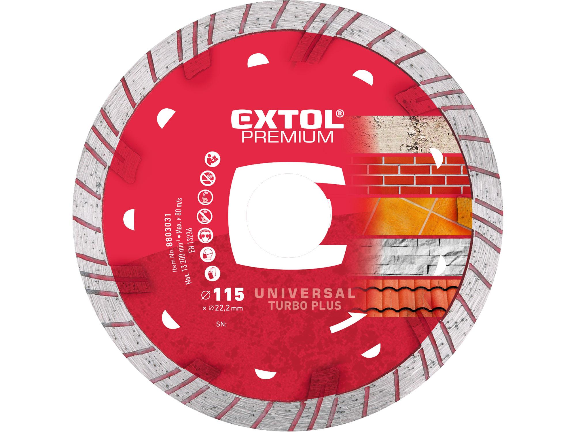 115mm Diamond Cutting Disc, TURBO, 115mm Dia, 22.2ID,  2mm Thk