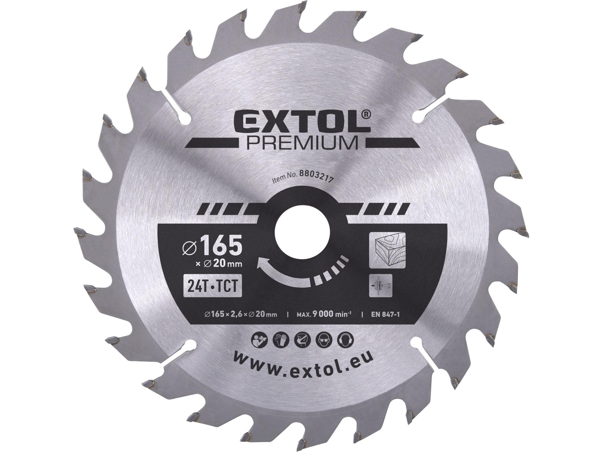 TCT circular saw blade, 165x2,0x20mm, 24teeth, 2,8mm width o