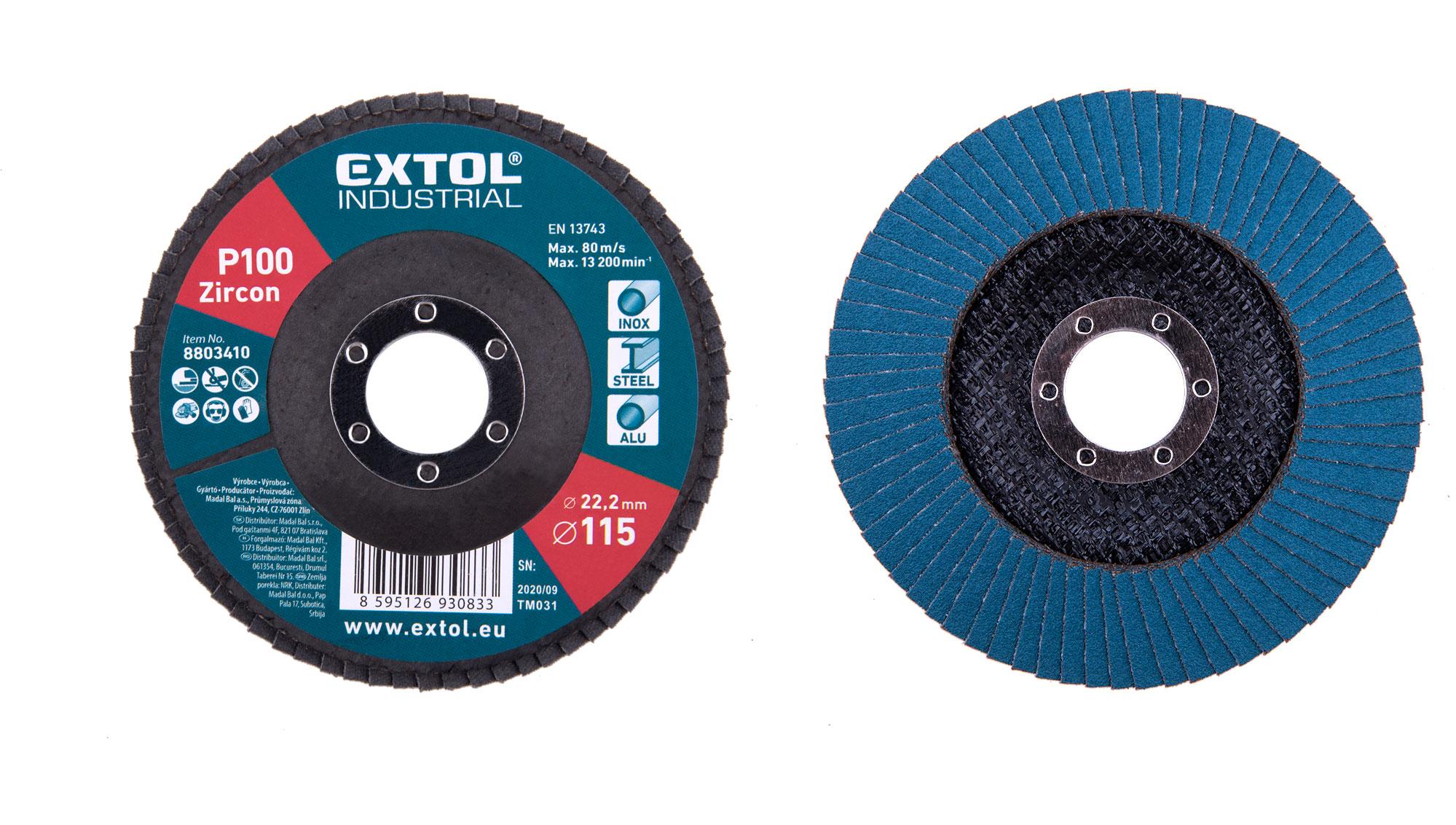 abrasive flap disc ,inclined ,115mm P100, zirconium