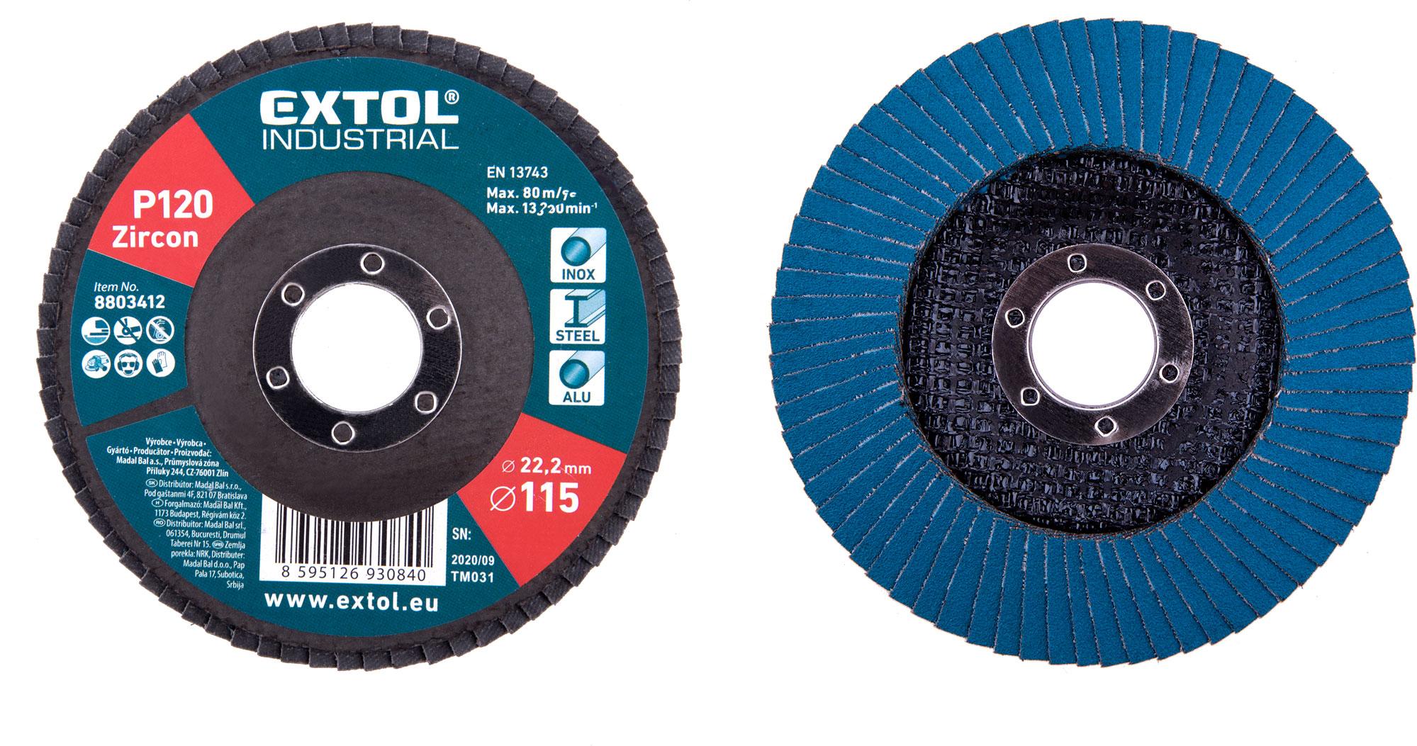abrasive flap disc, inclined ,115mm P120, zirconium