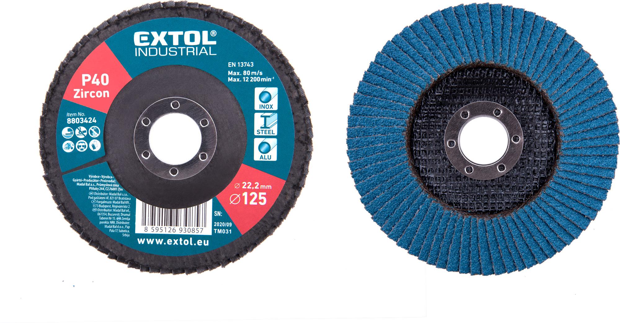 abrasive  flap disc ,inclined, 125mm P40, zirconium