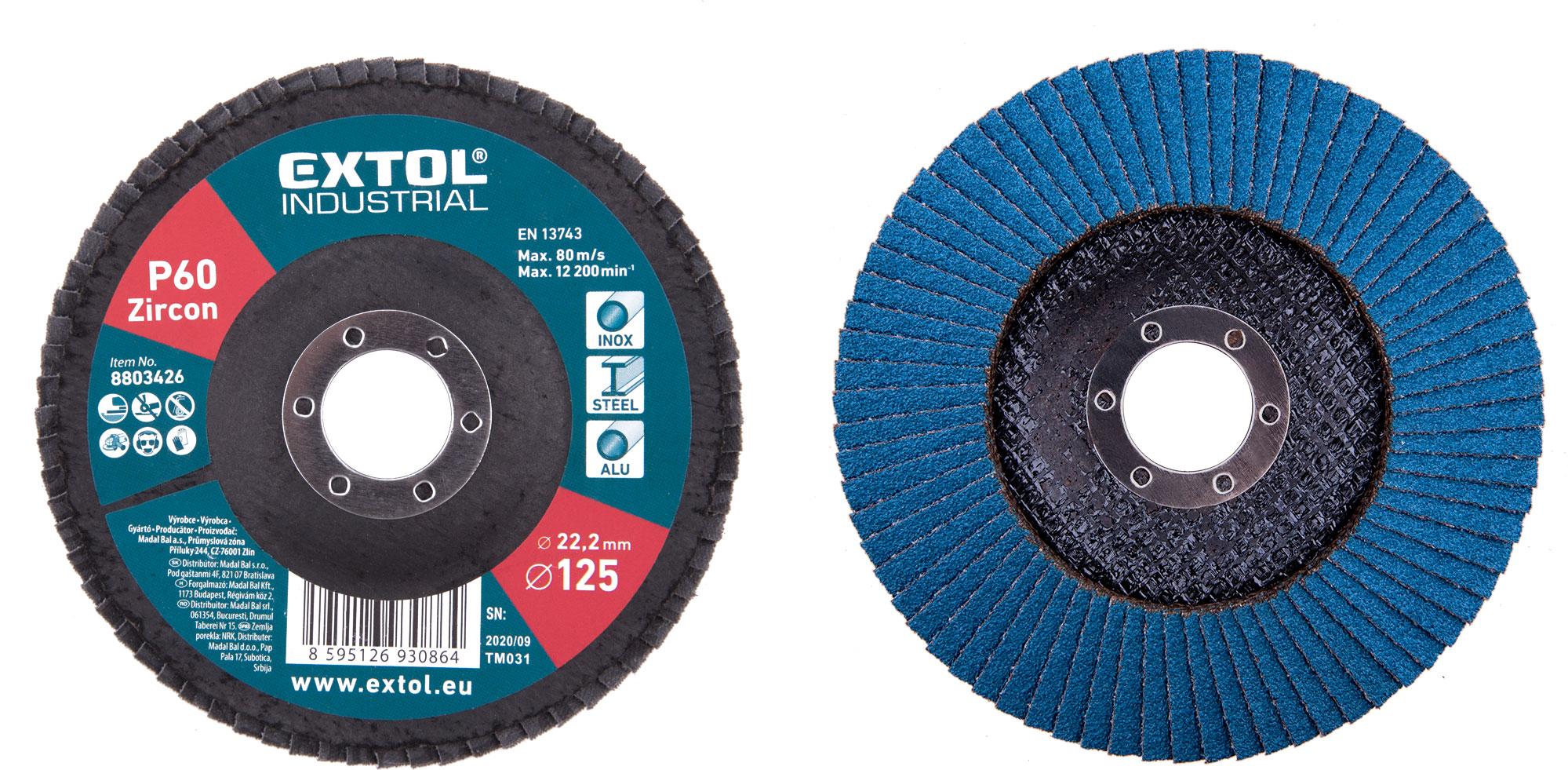 abrasive flap disc, inclined ,125mm P60, zirconium