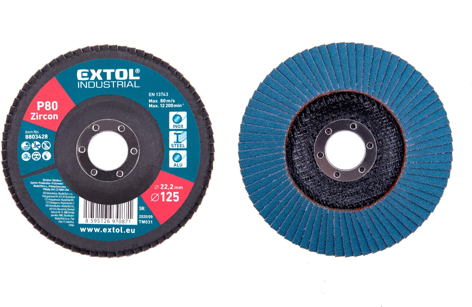 abrasive Flap disc, inclined, 125mm P80, zirconium