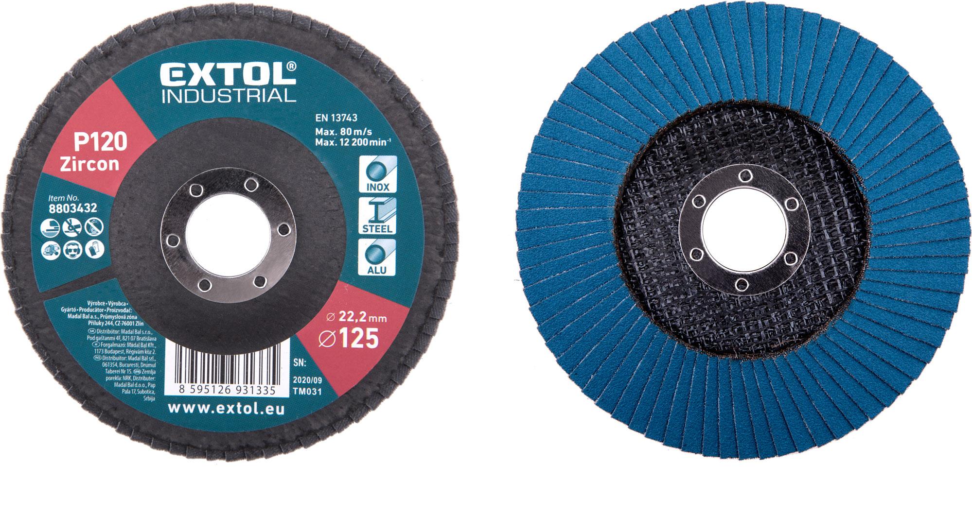 abrasive flap disc ,inclined ,125mm P120, zirconium