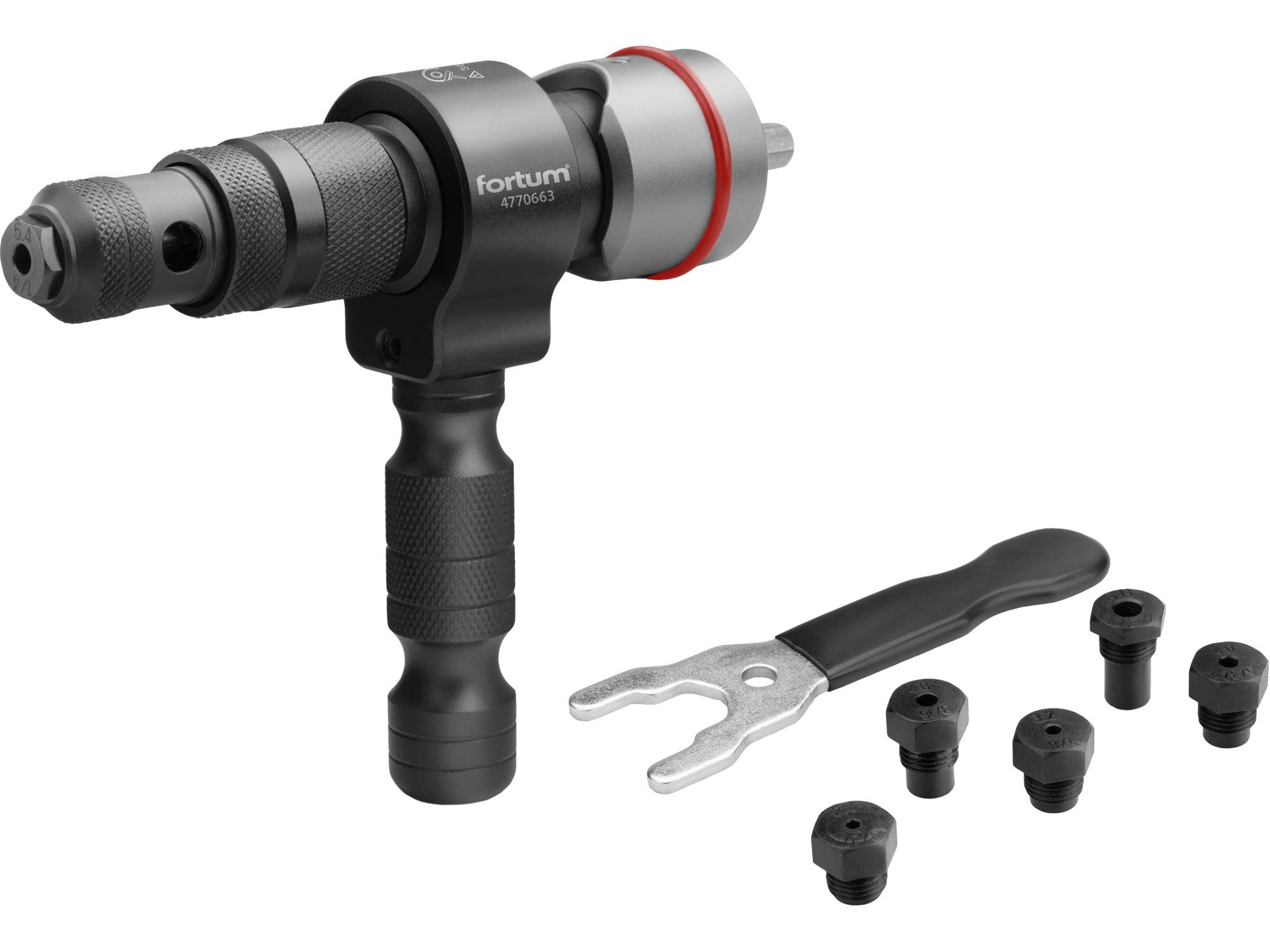 Blind Rivet Adapter TB7 for rivets 2.4-3.2-4.0-4.8-6.0-6.4mm, CrMoV, for rivets 2.4-6.4 mm