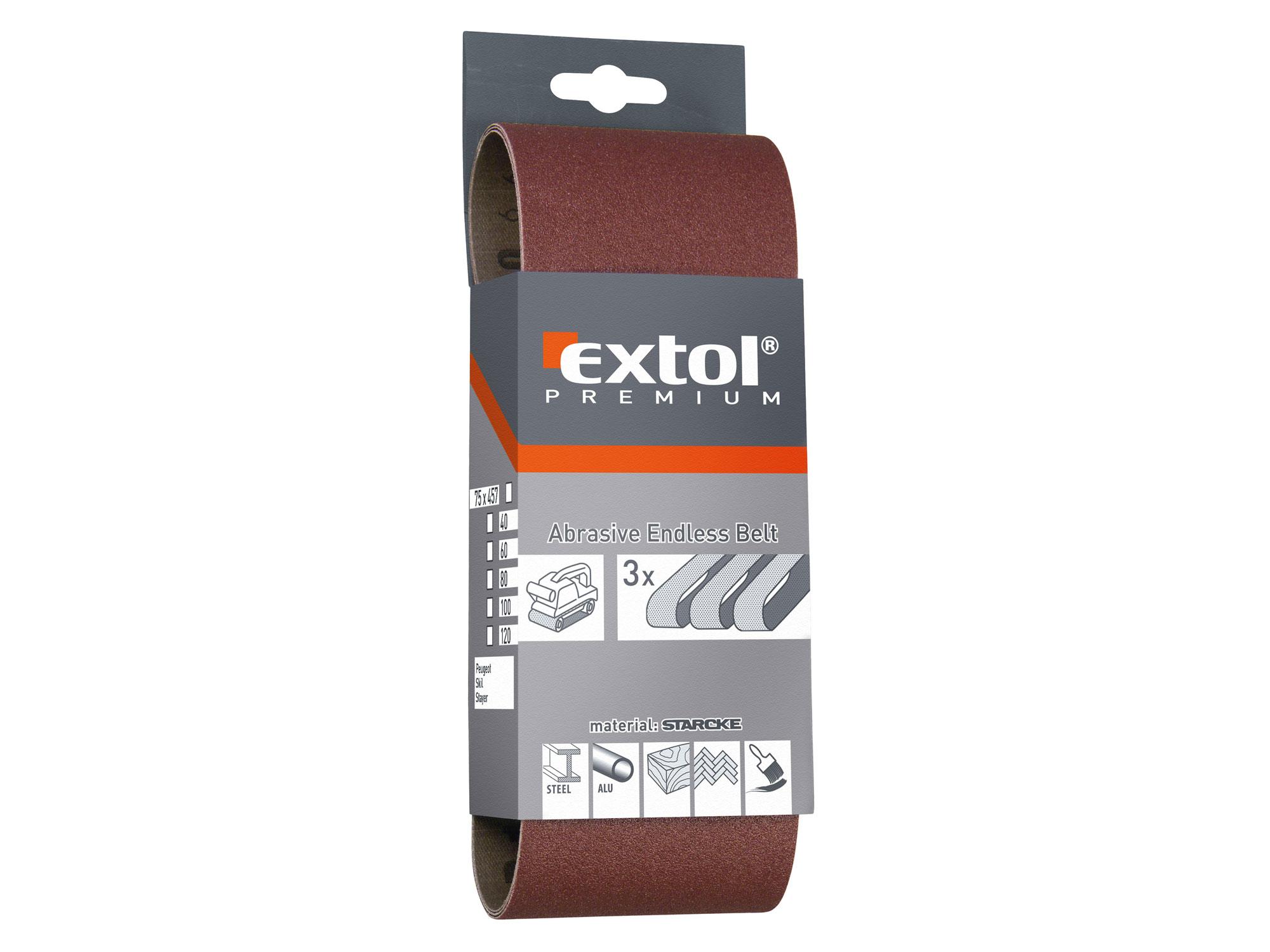 emery cloth abrasive belt, 3pcs 75x533 P40