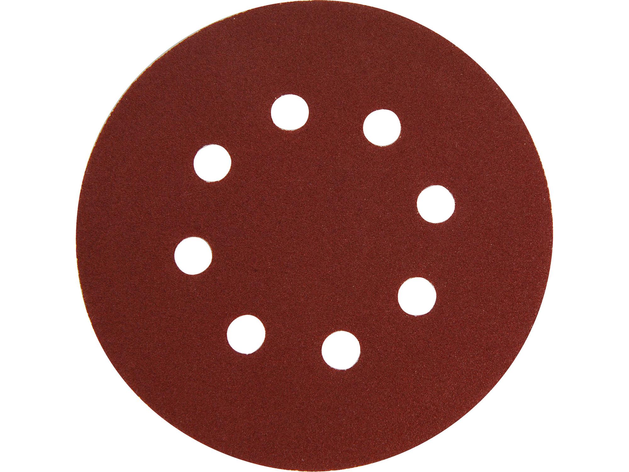 velcro disc 125mm, P40, 8 holes, 10pcs