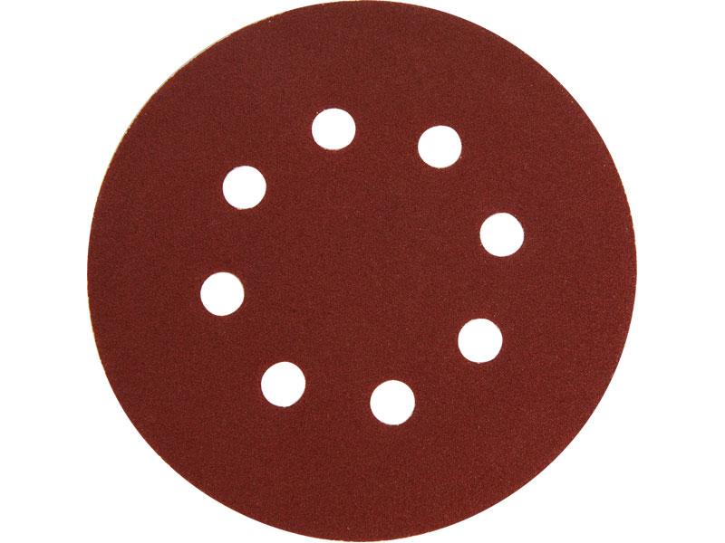 velcro disc 125mm, P60, 8 holes, 10pcs
