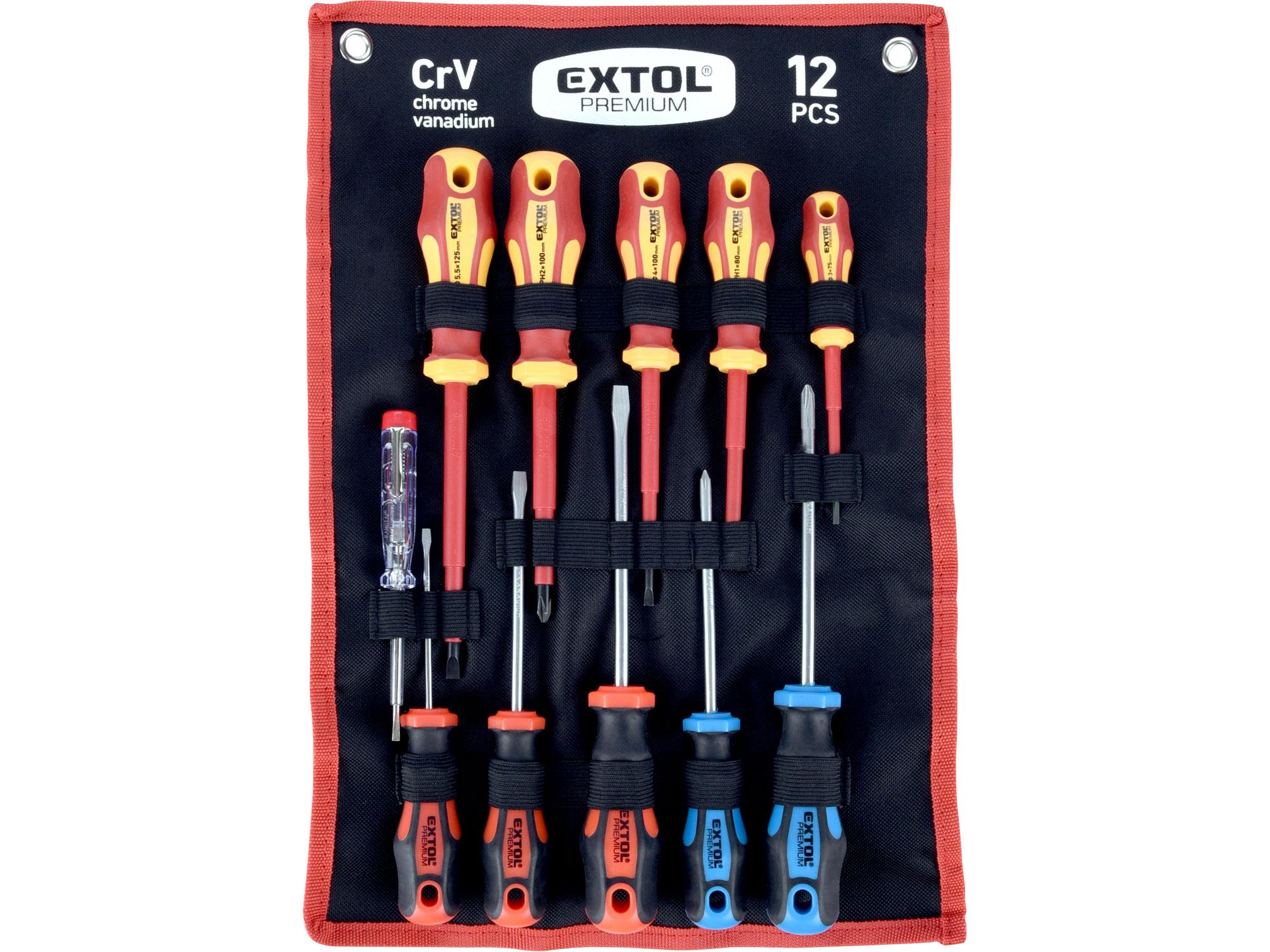 11pcs/set combination 5pcs-electrician+5pcs-normal+volt tester+pouch screwdrivers