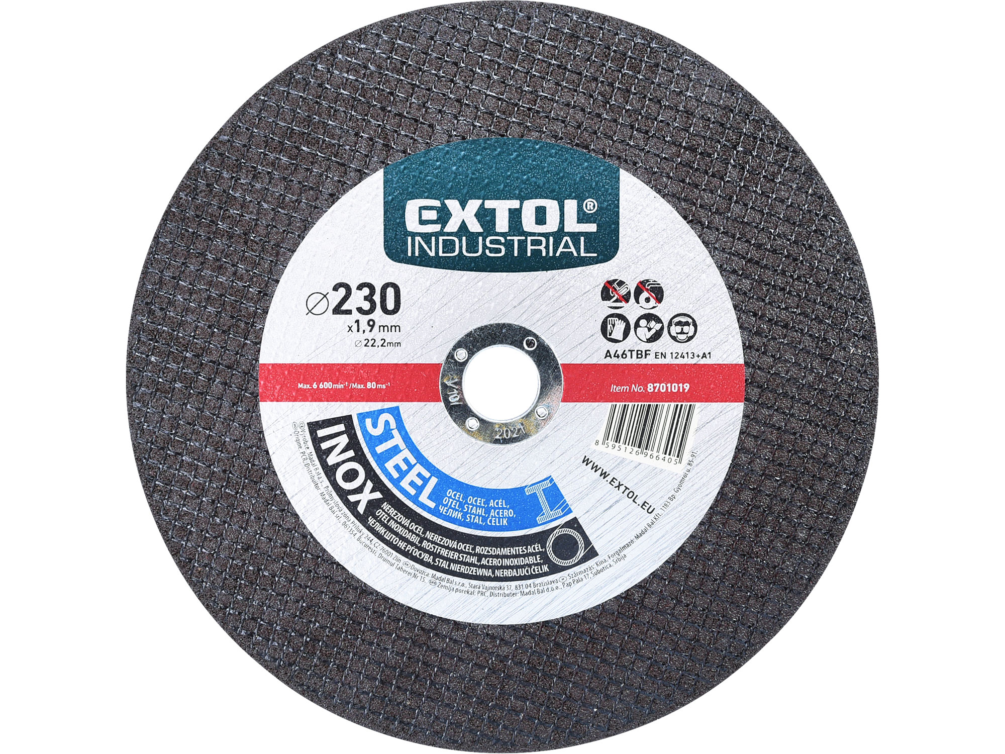 cutting wheel for steel/stainless steel 230x1,6x22,2mm