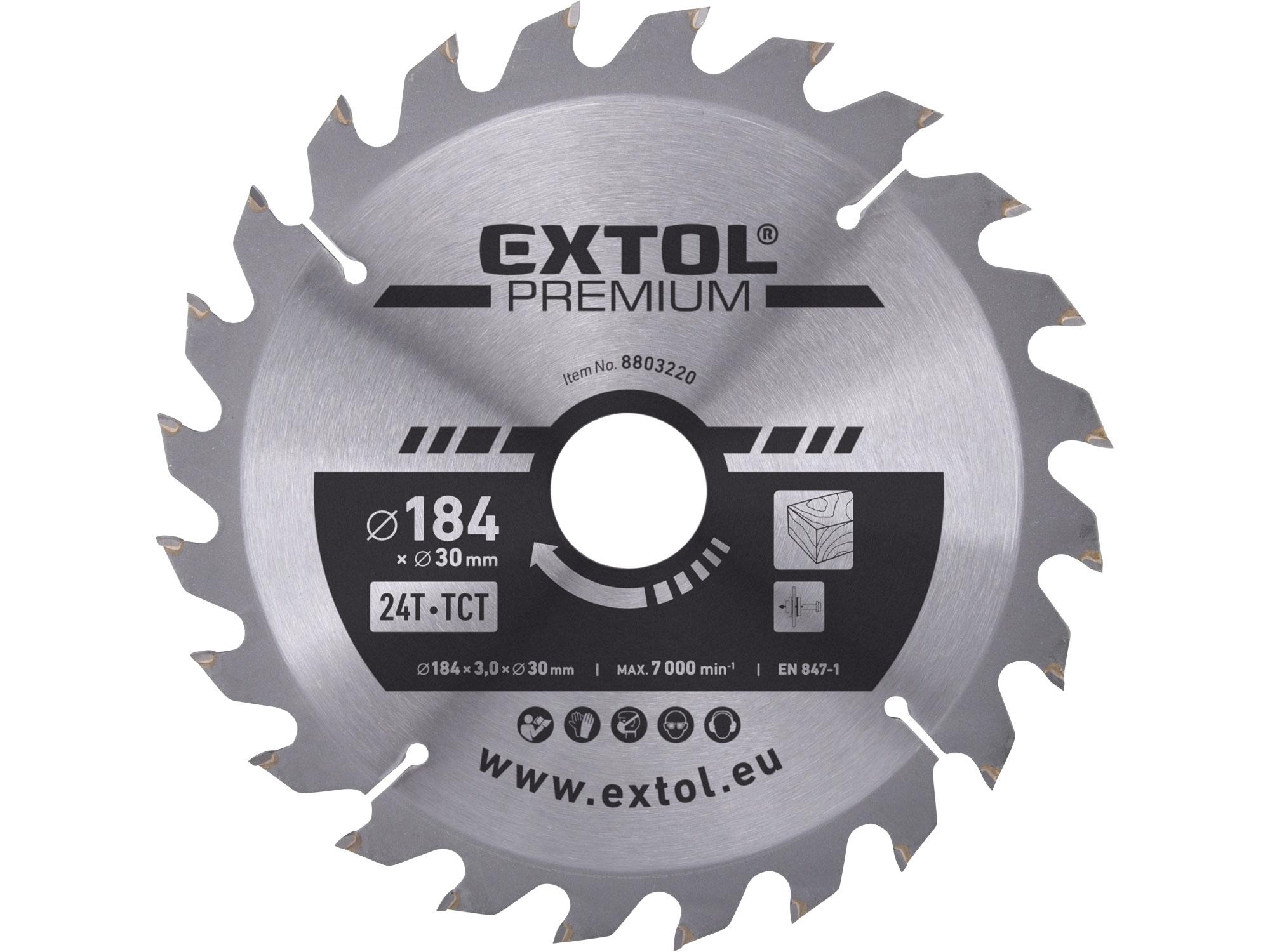 TCT circular saw blade, 184x2,2x30mm, 24teeth, 3,2mm width o