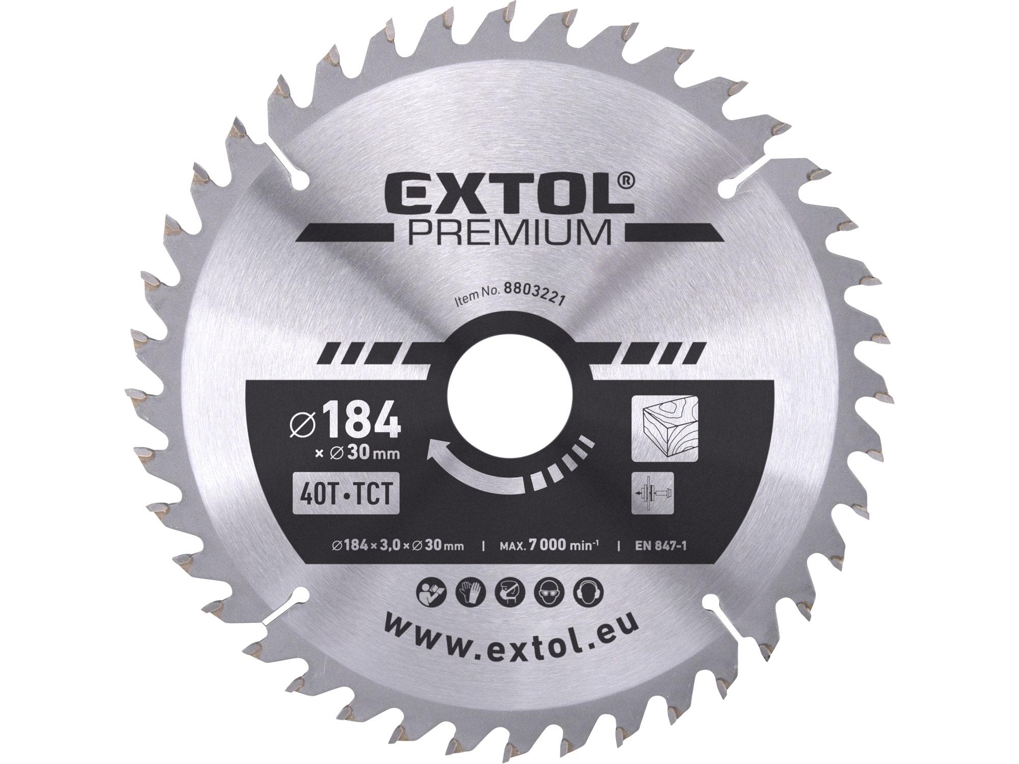 TCT circular saw blade, 184x2,2x30mm, 40teeth, 3,2mm width o