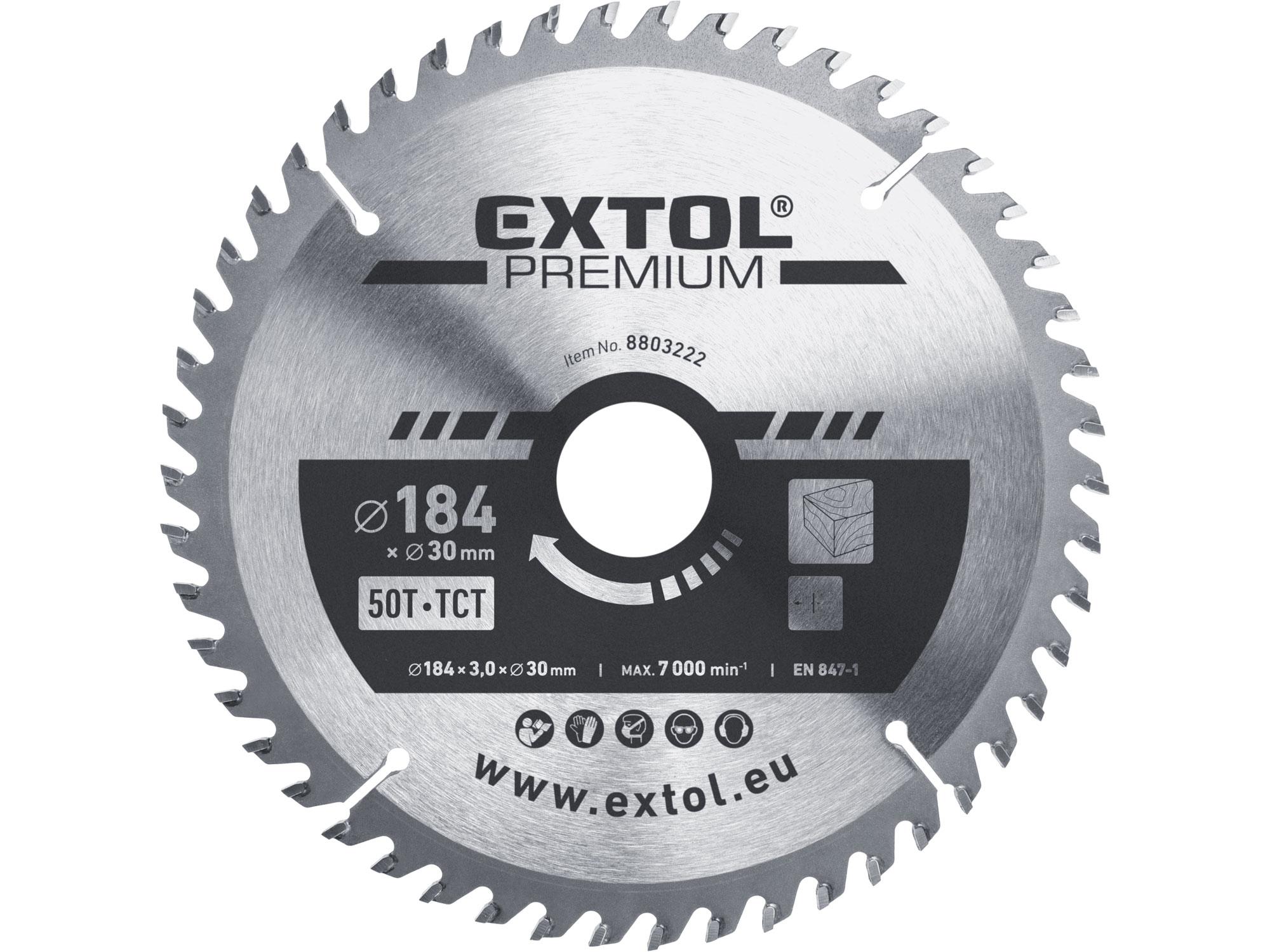 TCT circular saw blade, 184x2,2x30mm, 50teeth, 3,2mm width o