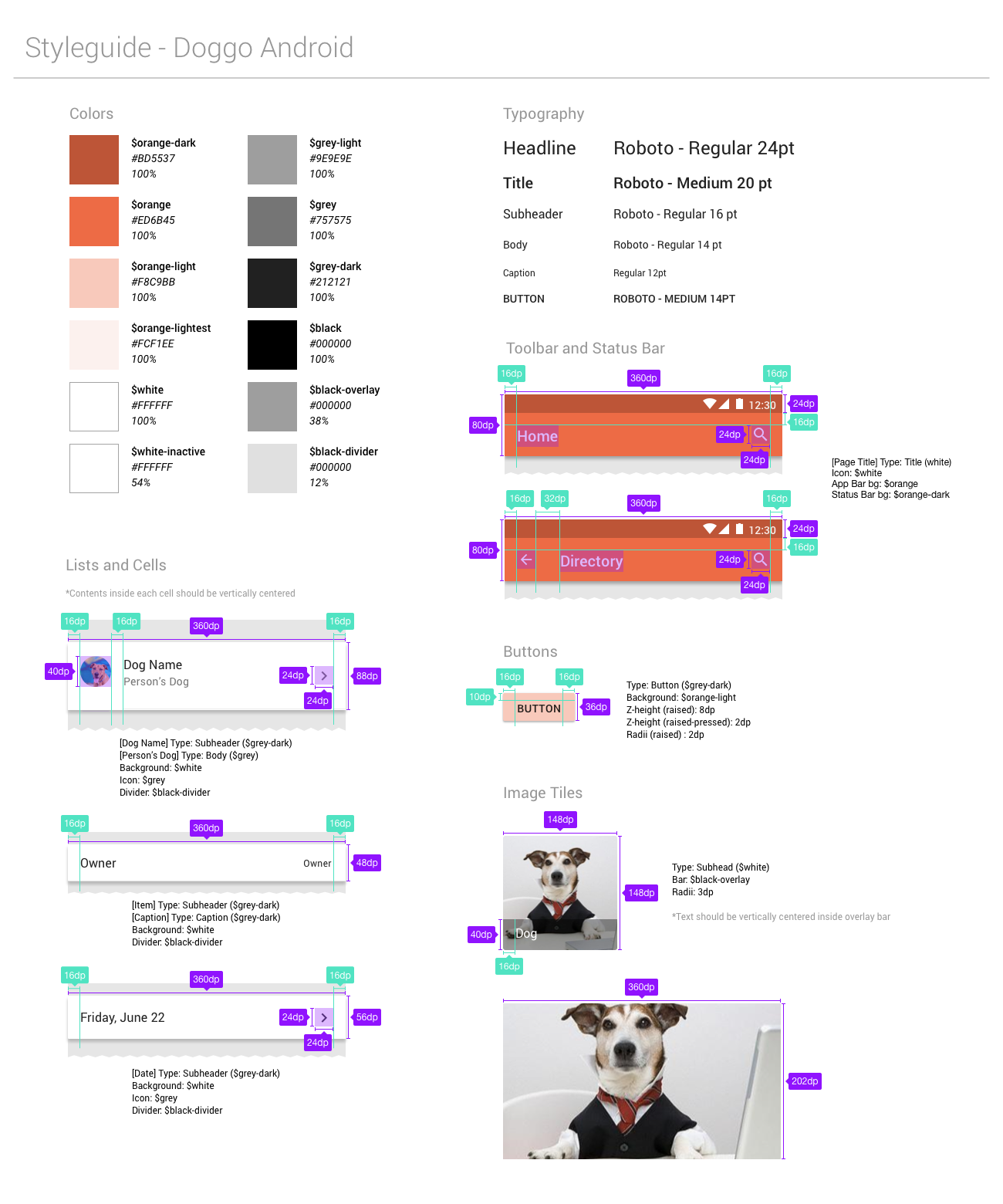 Doggo Android Style Guide