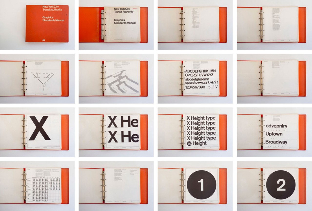 The original version of the manual created by Massimo Vignelli and Bob Noorda in 1970