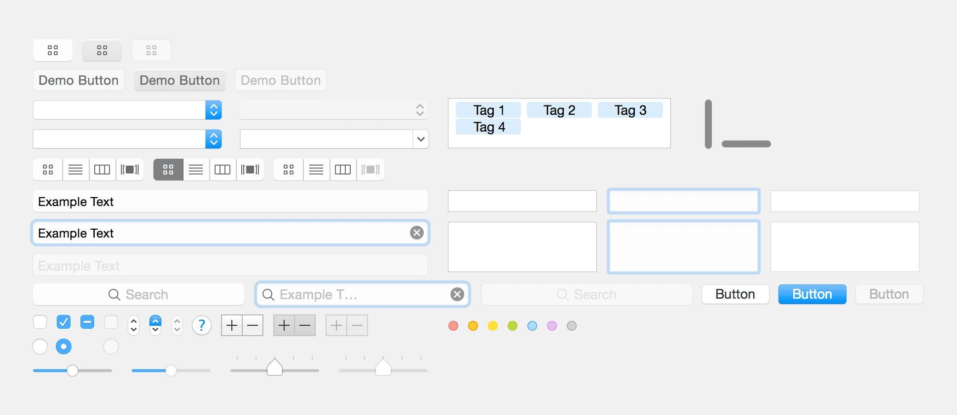 Standard UI elements