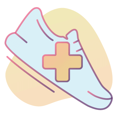 An exercise shoe