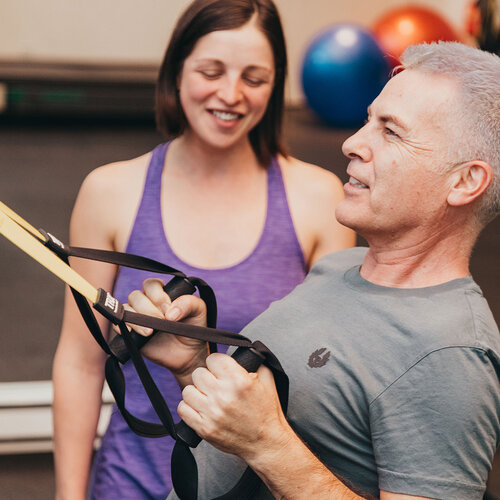 Co-owner Dasha MacWilliam working with a client at our Yaletown studio.