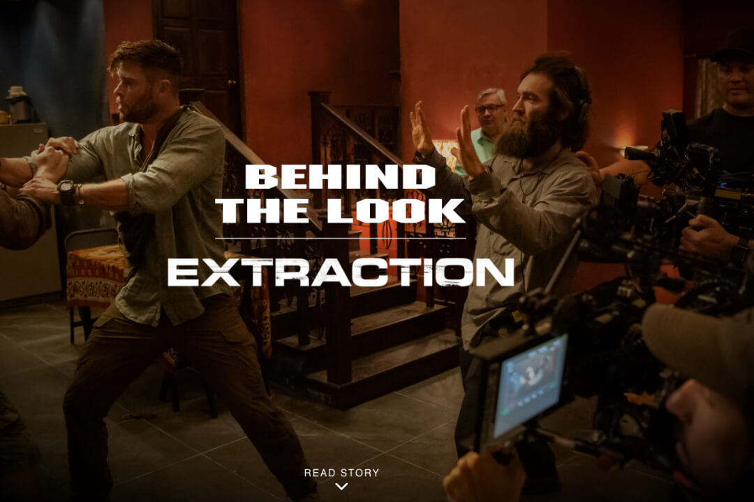 Advertisement of Extraction,  a movie shot with RED camera's for RED.com