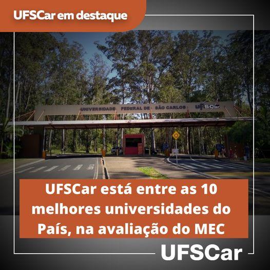UFSCar está entre as 10 melhores Universidades do País