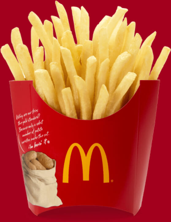 a mcdonalds fries as a background