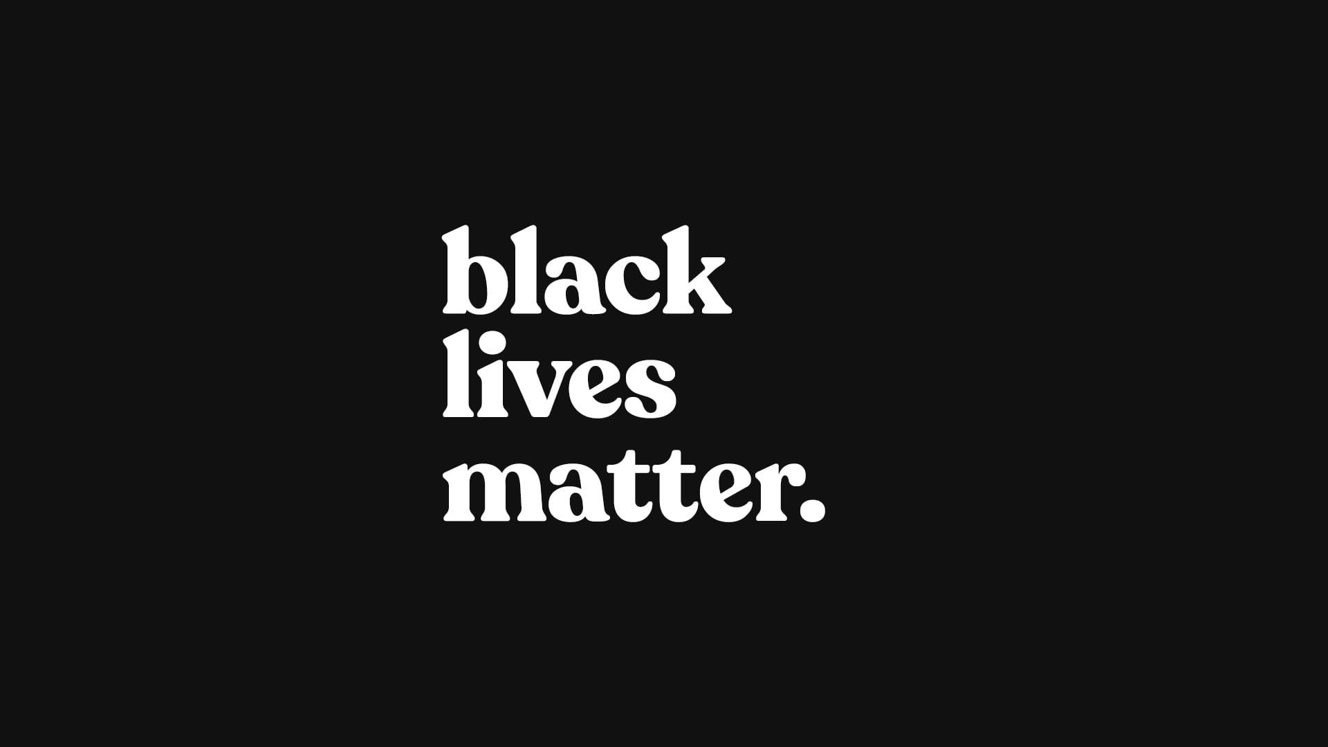Studio Potts supports #BlackLivesMatter