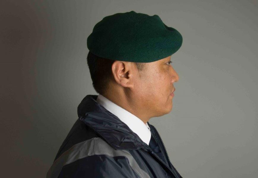 Side profile of a Gurkha soldier