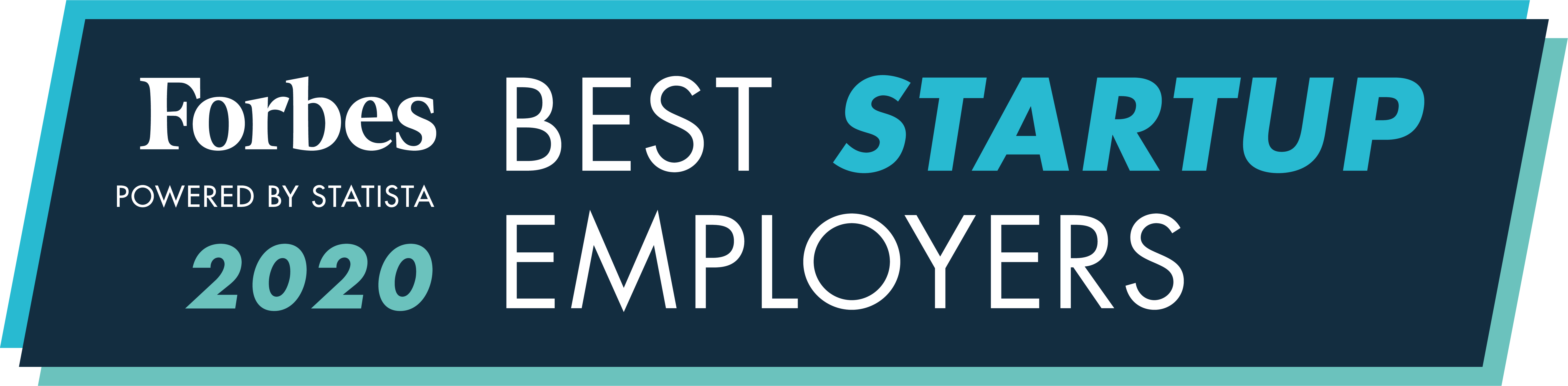 Forbes 2020 best startup employers badge