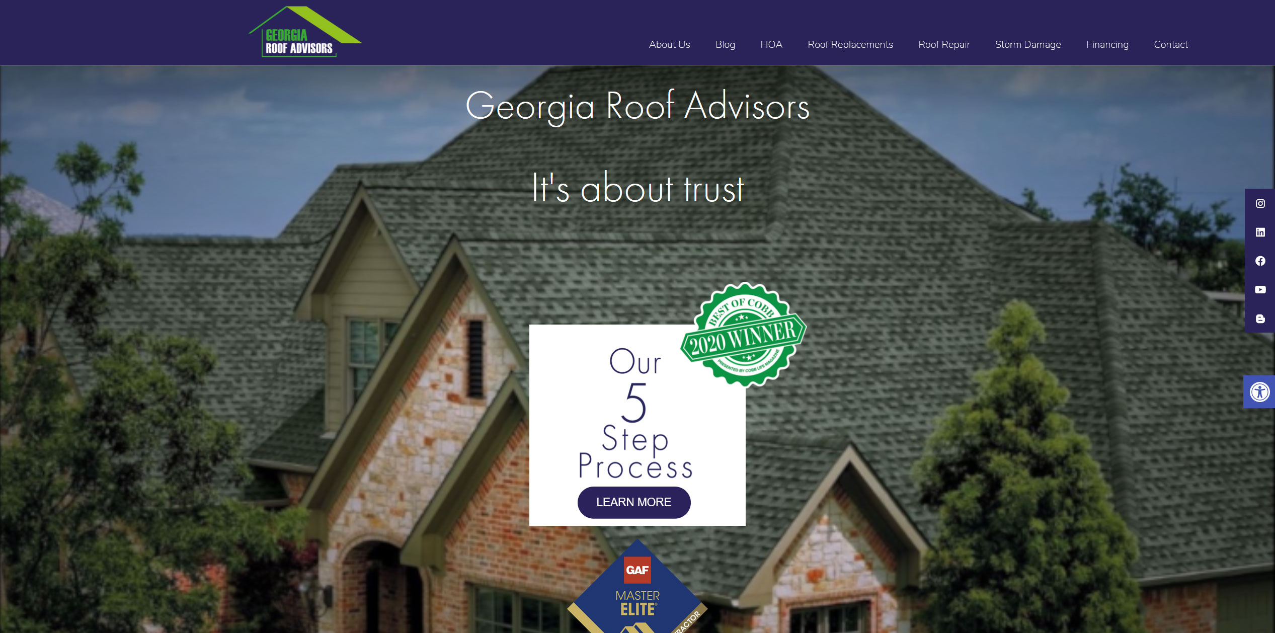 An example of a customer website