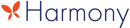 Harmony blue logo.