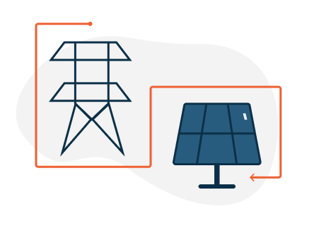 Utility connection with solar